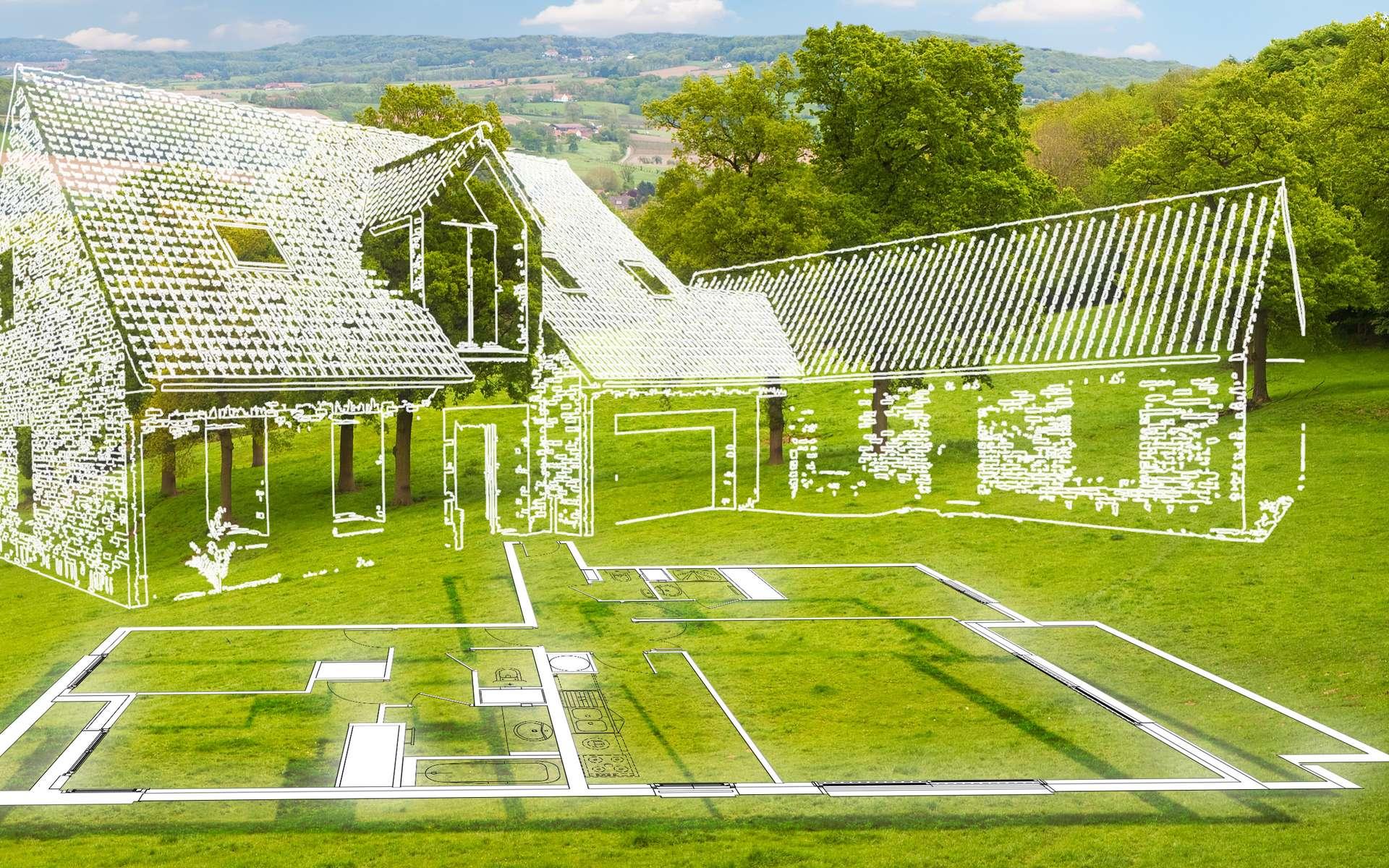 La surface pour construire dépend du type de construction souhaitée. © Lulu Berlu, fotolia