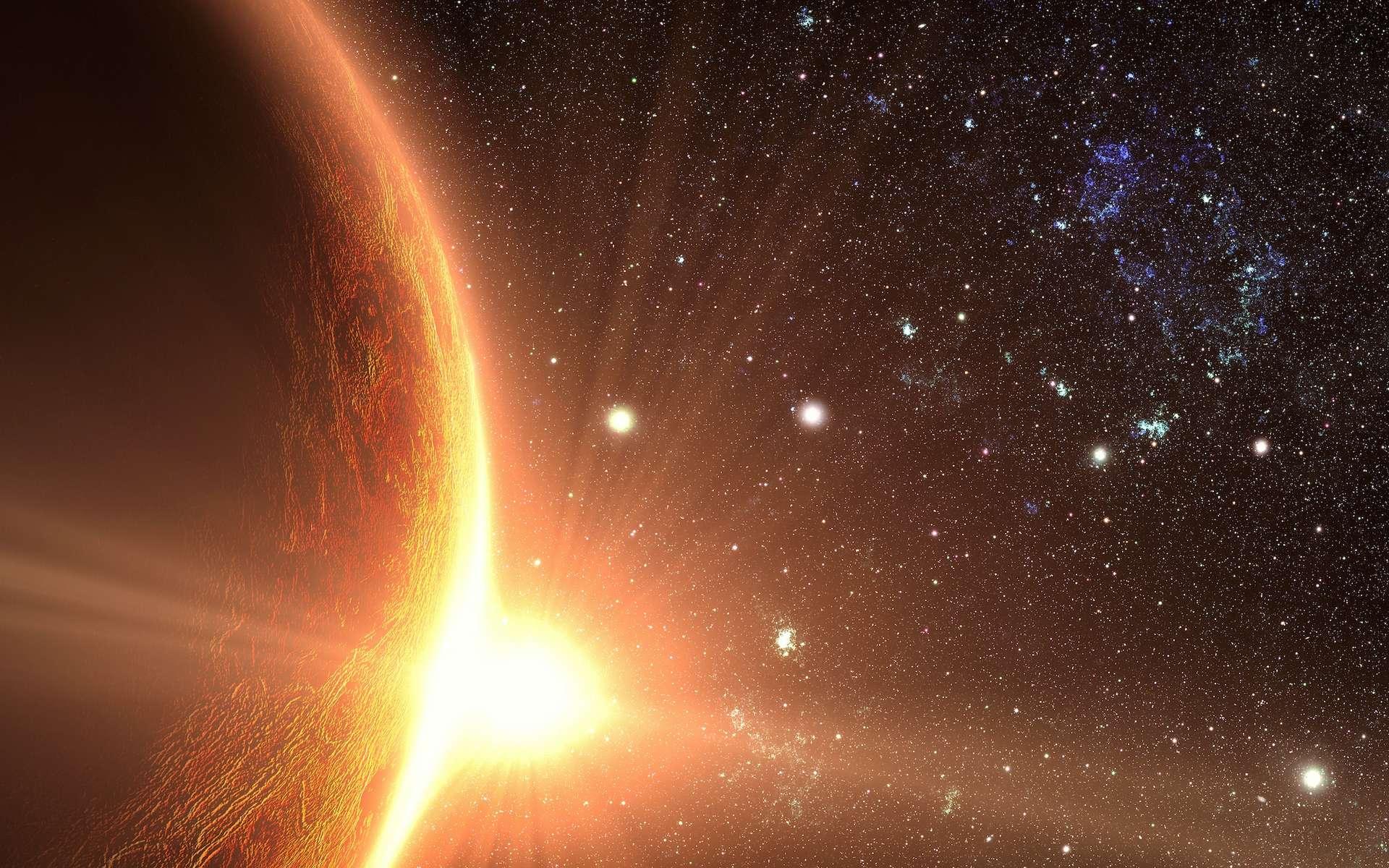 Vénus observée dans l'ultraviolet par le télescope spatial Hubble le 24 janvier 1995. © Nasa, JPL
