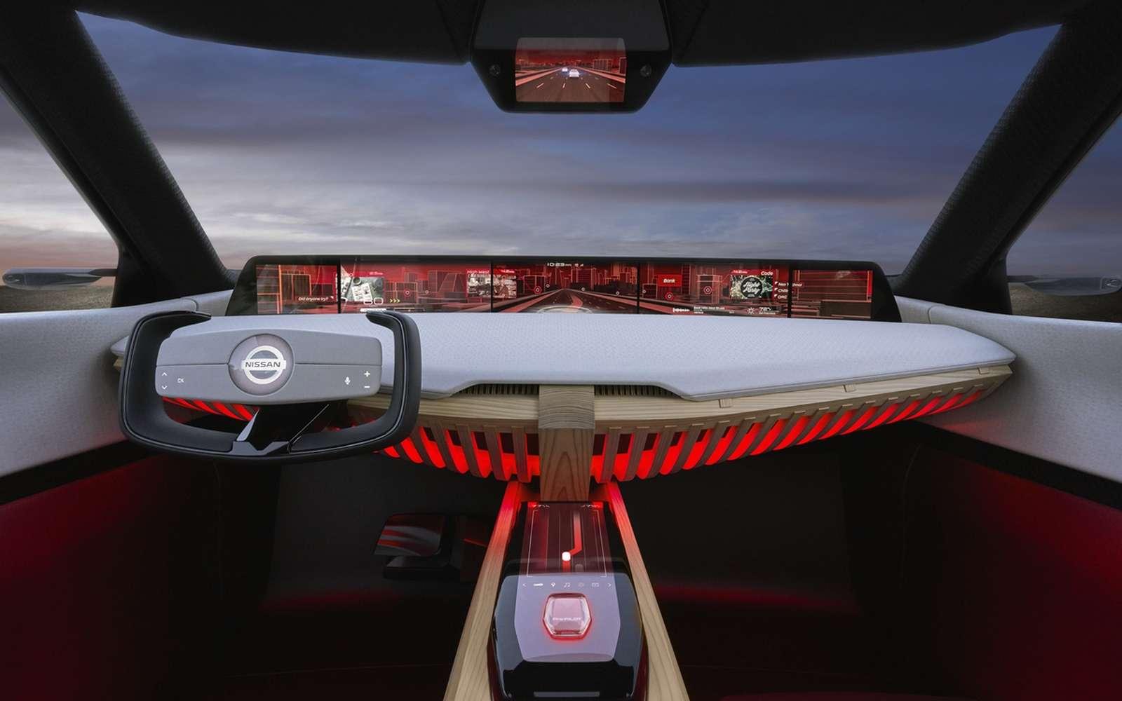 Le tableau de bord du concept-car Nissan Xmotion. © Nissan