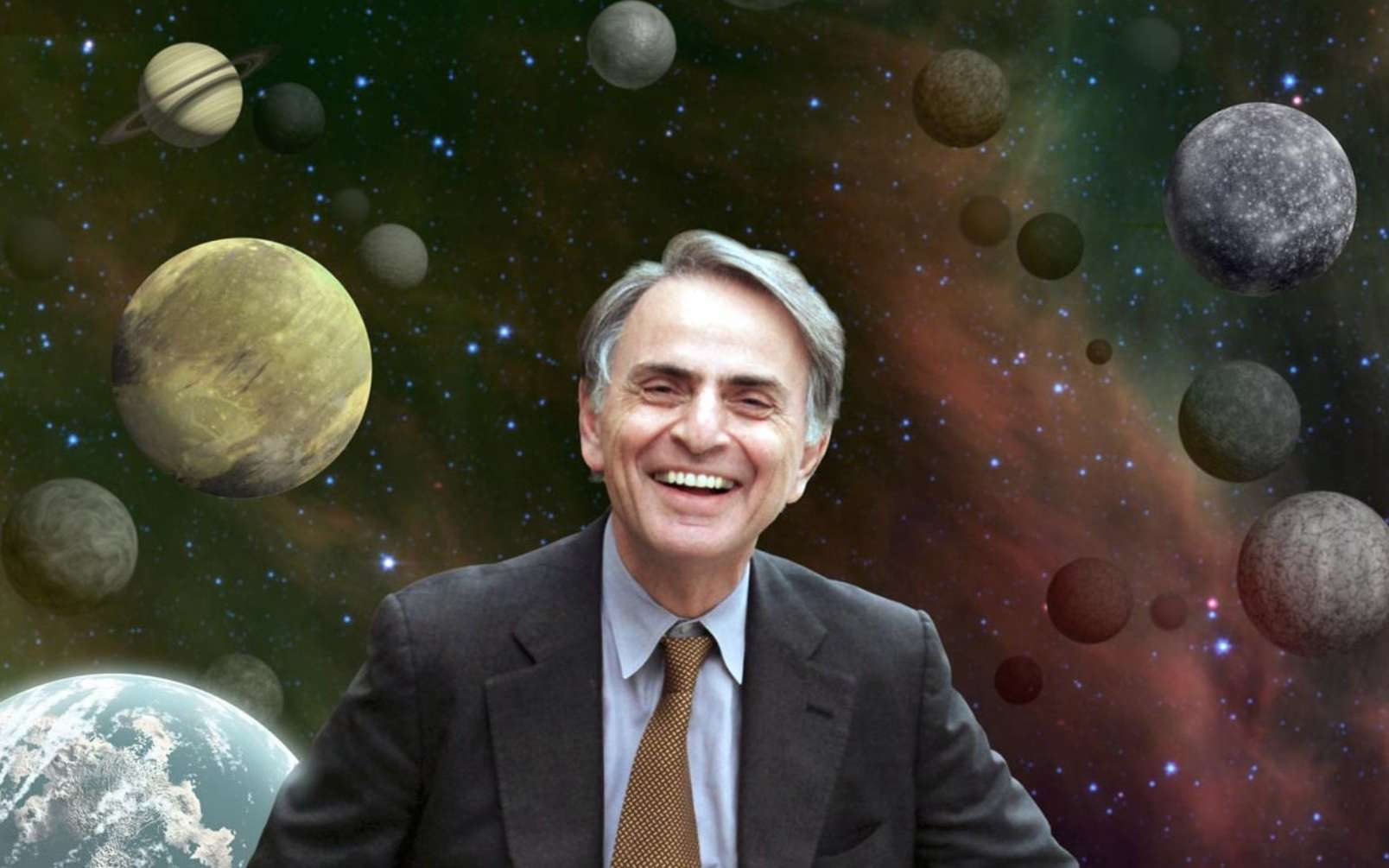 Carl Sagan, le grand astrobiologiste. © Nasa, Cosmos Studies