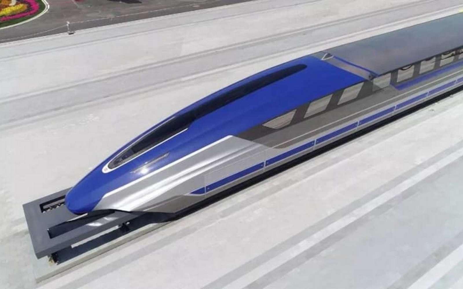 Le Maglev chinois pourrait permettre de parcourir les 1.300 km qui séparent Shanghai de Pékin en seulement 3 h 30 min. © CRRC