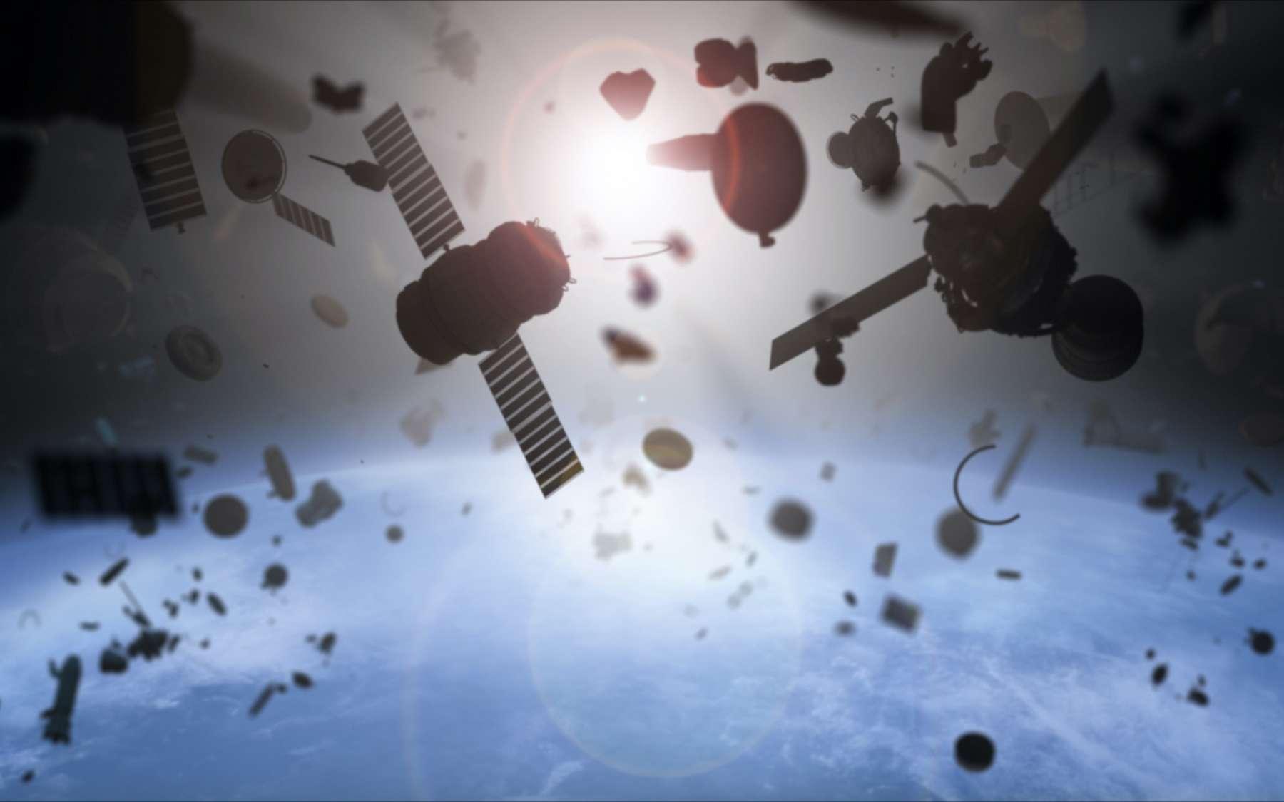 Au fur et à mesure que le nombre d'engins en orbite augmente, le risque de collision s'accroît. © Petrovich12, Adobe Stock