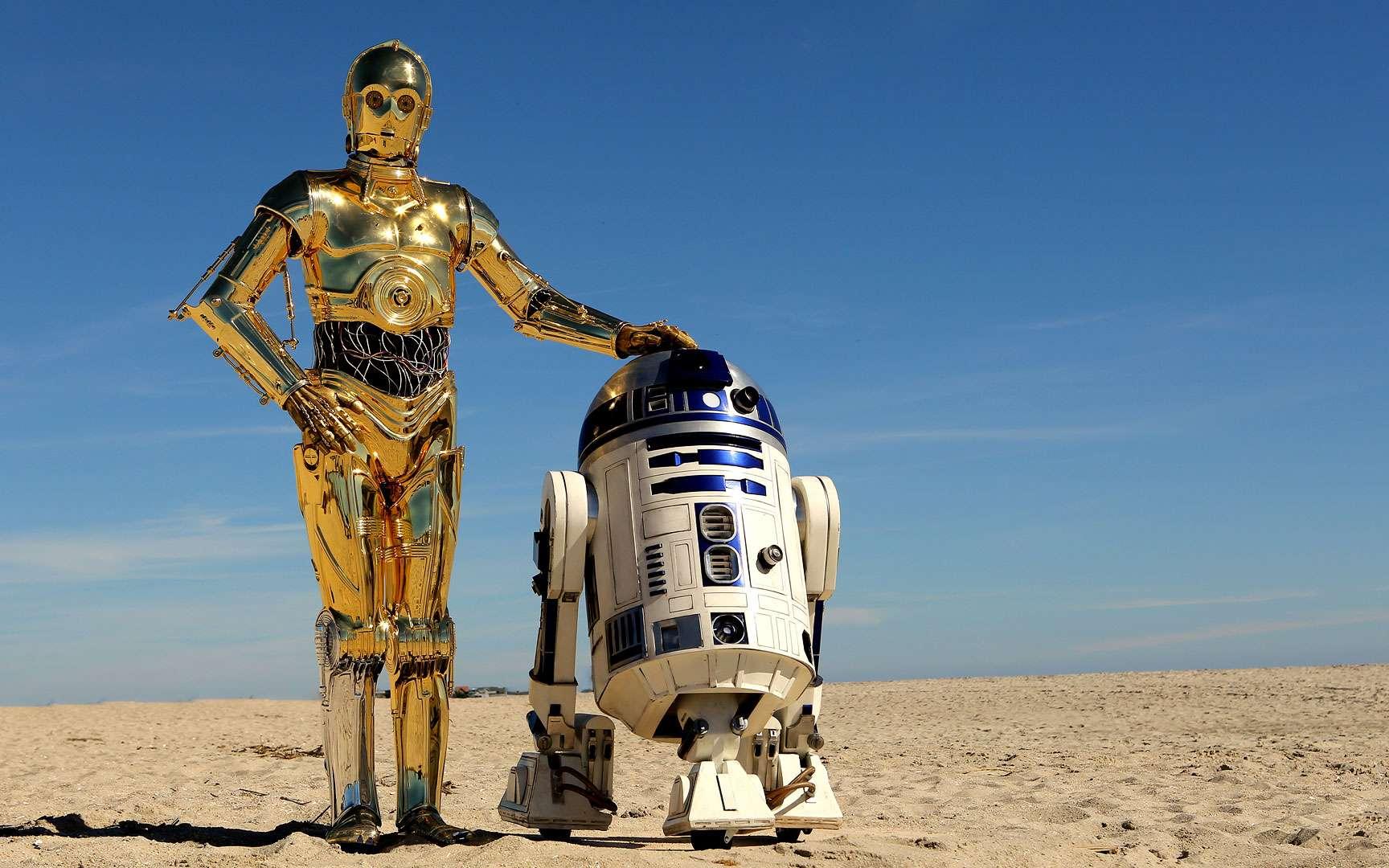 R2-D2. R2-D2 est un robot de la saga Star Wars. De forme ovoïde et de petite taille, il s'exprime par sifflements. Il forme un duo comique avec C3PO inspiré par Laurel et Hardy. © Terren in Virginia, Flickr, Attribution 2.0 Generic (CC BY 2.0)