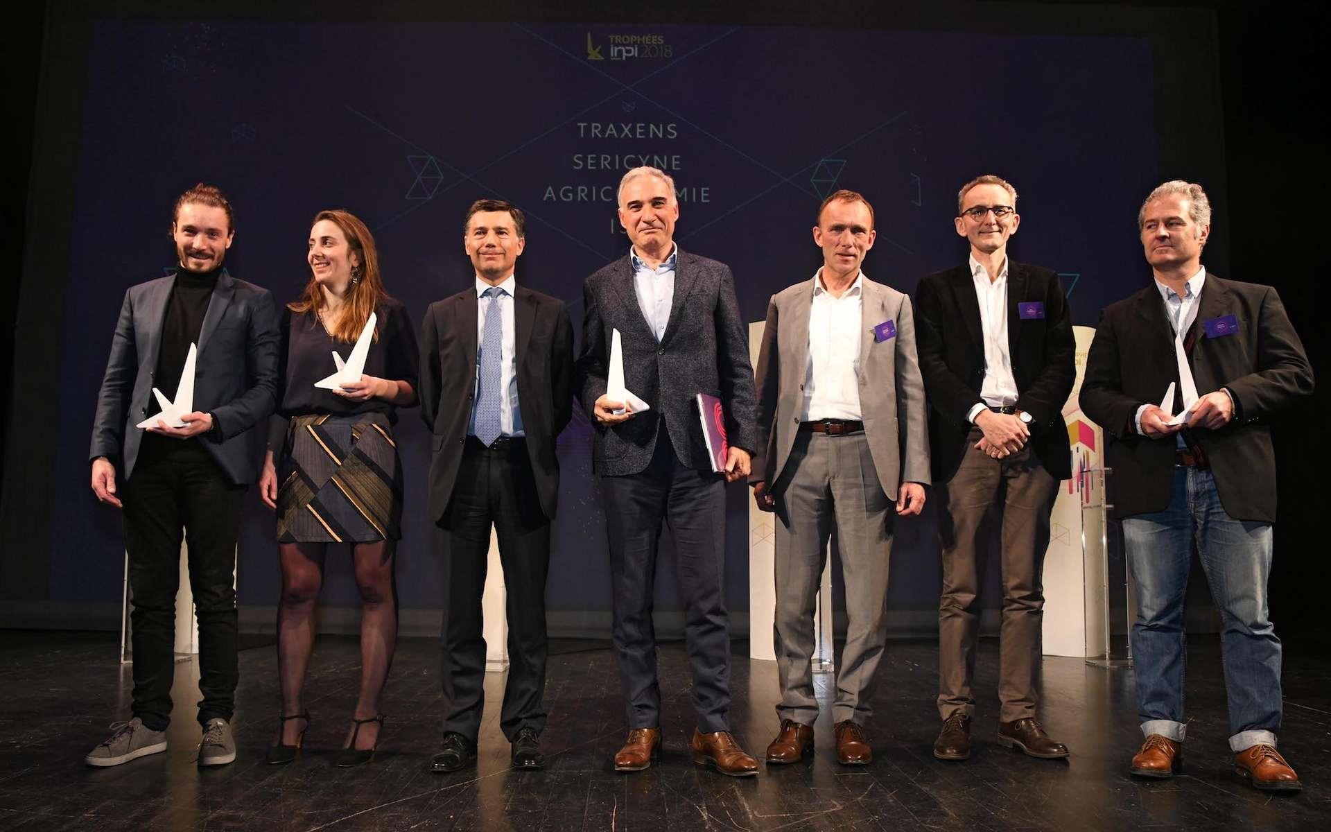 Traxens, Sericyne, Agriconomie et I3S : les quatre gagnants des Trophées INPI 2018. © INPI