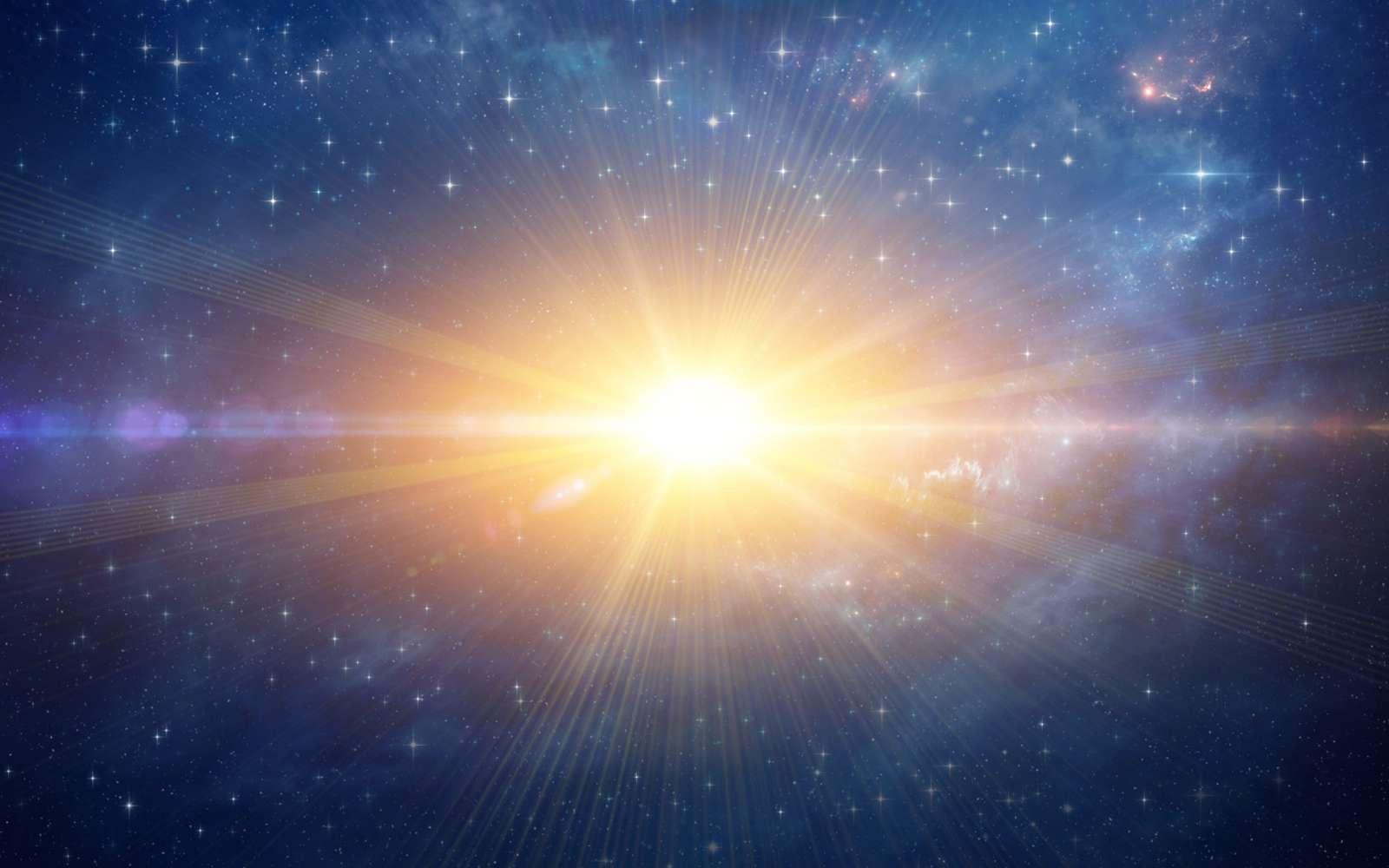 Le Big Bang et l'inflation, image d'artiste. Rappelons que le Big Bang n'est pas vraiment une explosion au sens classique. © MozZz, Fotolia