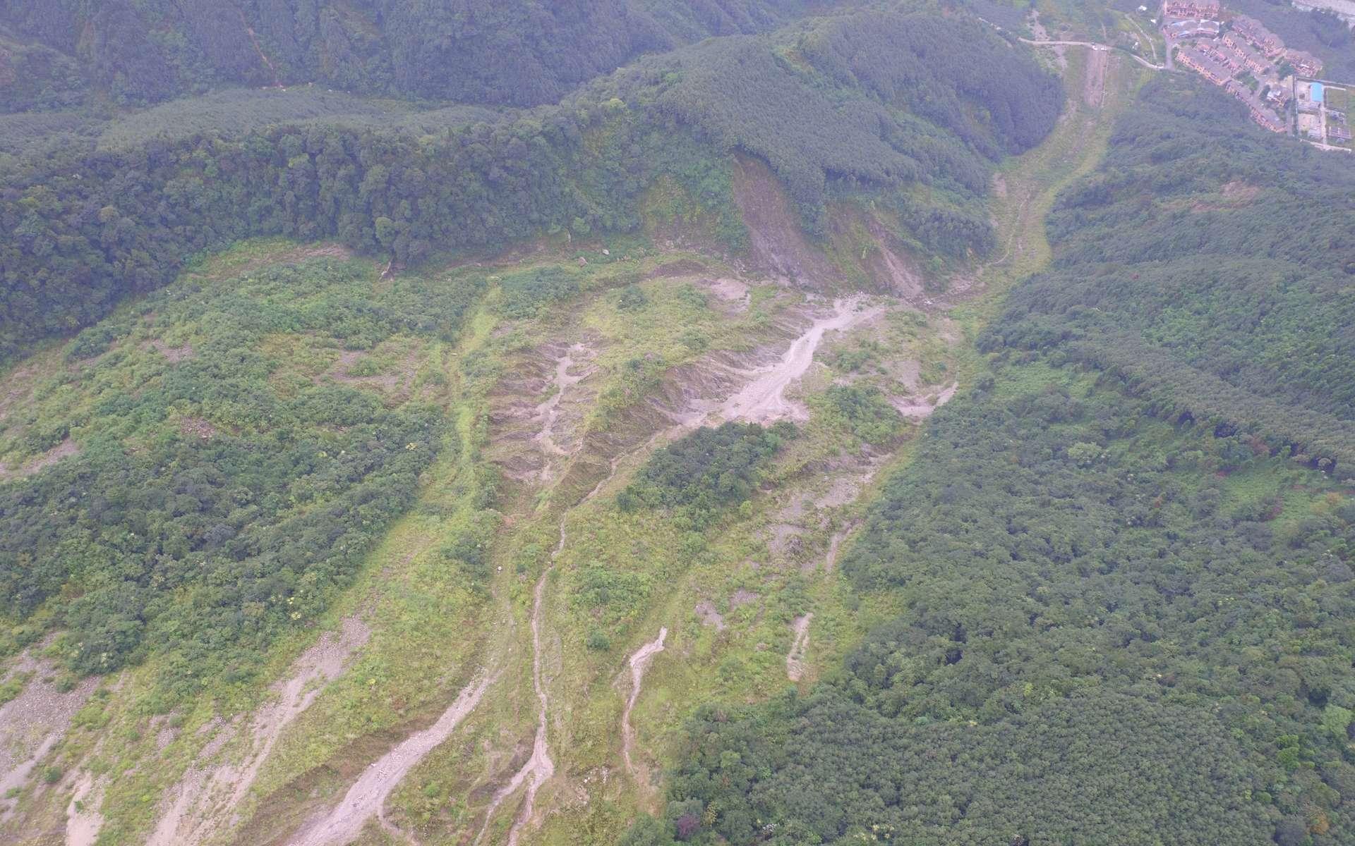 Coulées de boues dans la province du Sichuan suite au séisme de Wenchuan. © Zongji Yang (imaggeo.egu.eu)
