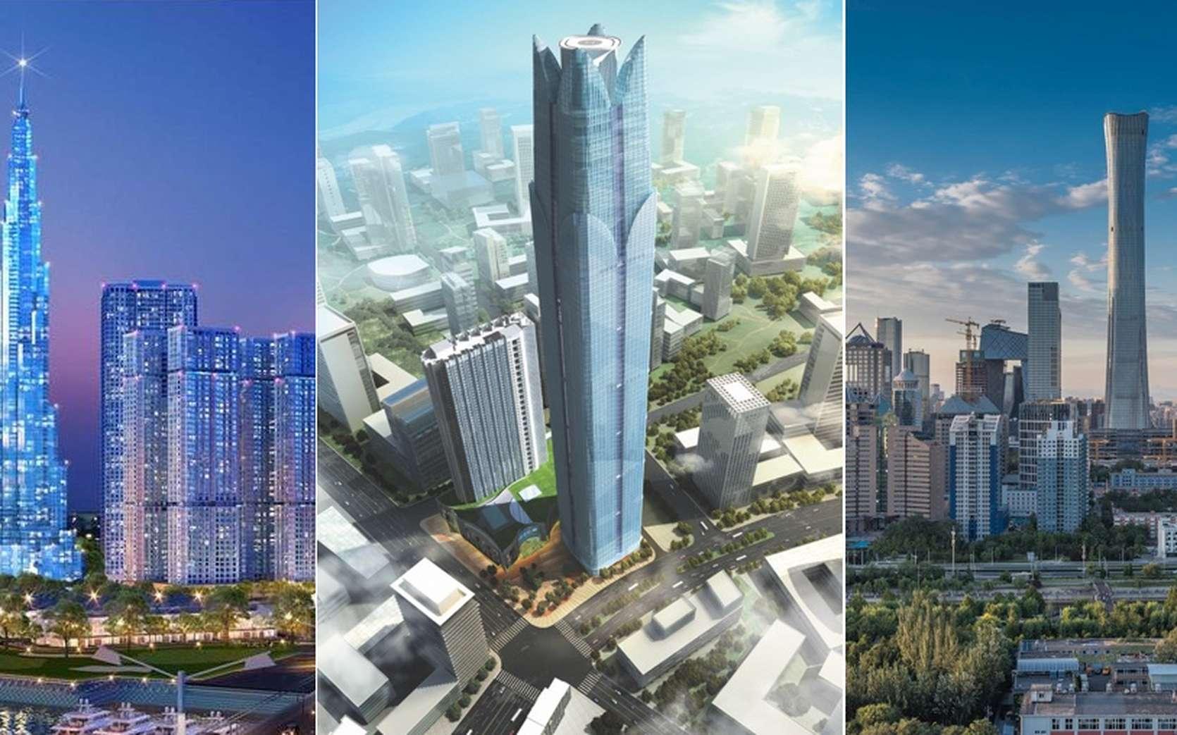 En 2018, on compte 1.478 gratte-ciel de plus de 200 mètres dans le monde, une hausse de 141 % par rapport à 2010. © C.D., CTBUH