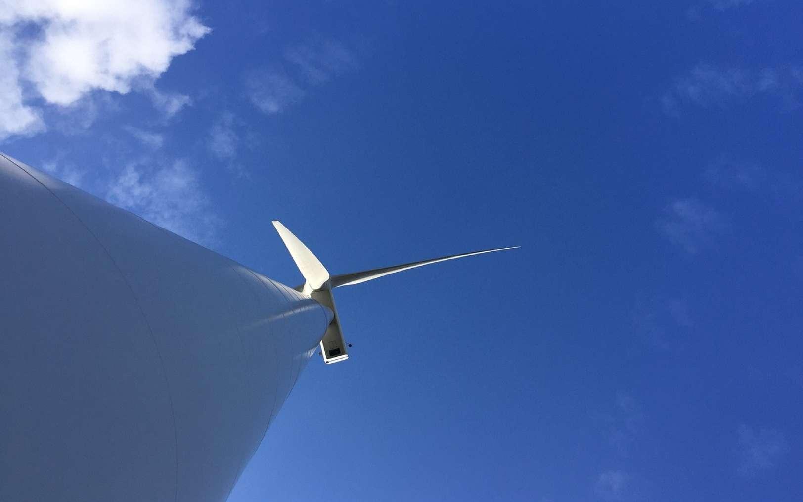 La première éolienne flottante à produire de l'électricité sur les côtes françaises est en service. © fotoak80, Fotolia