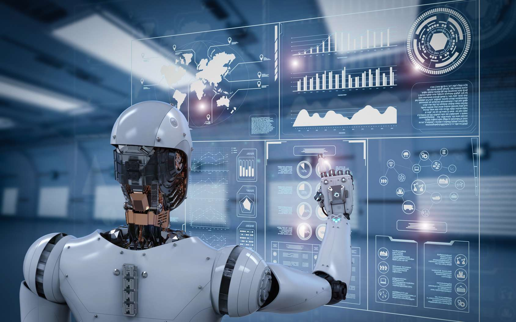 Dans l'espace, l'utilisation de Robots fait partie du quotidien. Ils s'occupent du tout-venant et laissent aux humains le soin des tâches importantes. © phonlamaiphoto, Fotolia