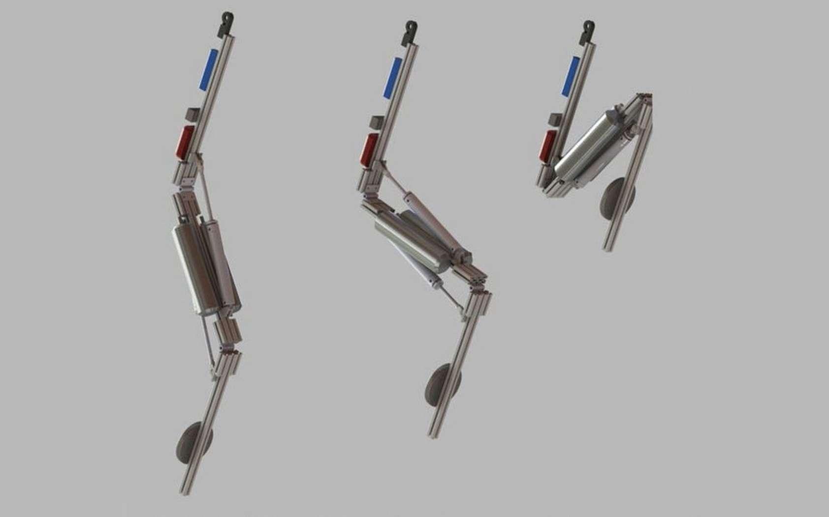 Une présentation de la cinématique du robot Stickman de Disney Research. © Disney Research
