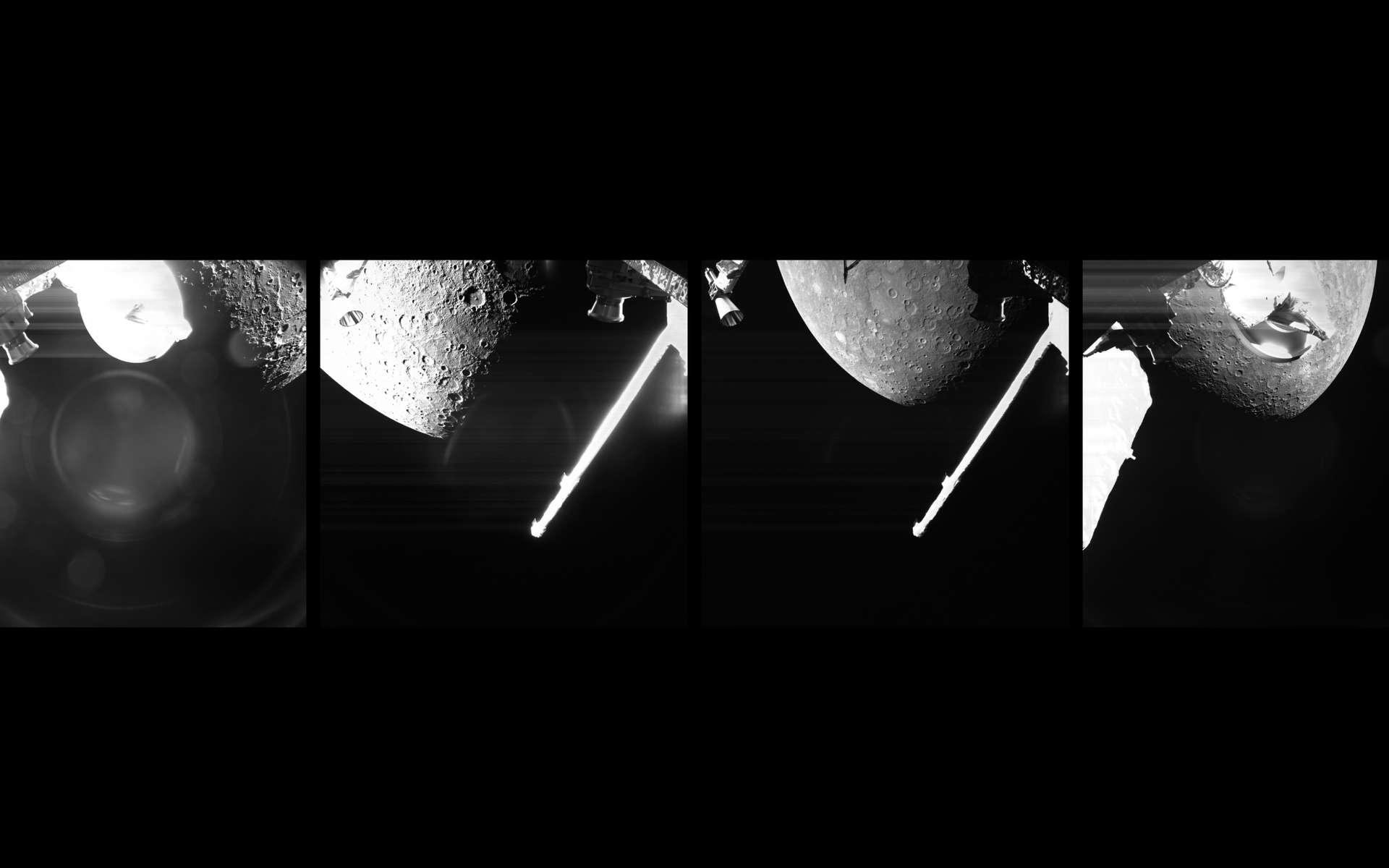 Mercure le 1er octobre lors du premier survol de la sonde spatiale BepiColombo. © ESA, BepiColombo, MTM, CC BY-SA 3.0 IGO