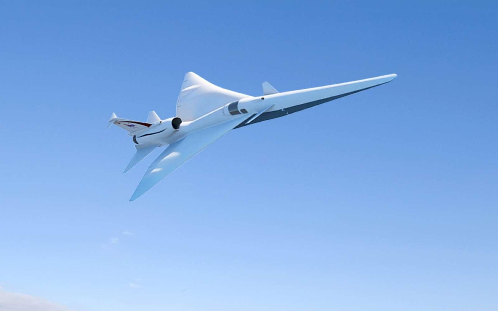 Pour vérifier le niveau sonore du futur X-59 supersonique, la Nasa a mis au point un champ de micros d'une longueur de près de 50 kilomètres. Ils sont capables de récolter suffisamment d'échantillons sonores dans différentes configurations pour optimiser le fuselage de l'aéronef. © Nasa