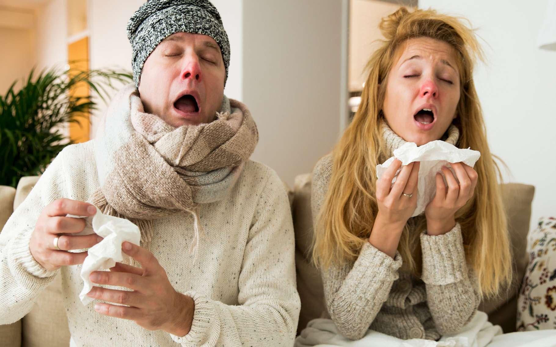 Des chercheurs ont établi un lien entre les bactéries qui vivent dans notre nez et dans notre gorge ainsi que notre sensibilité au virus de la grippe. © ladysuzy, Fotolia
