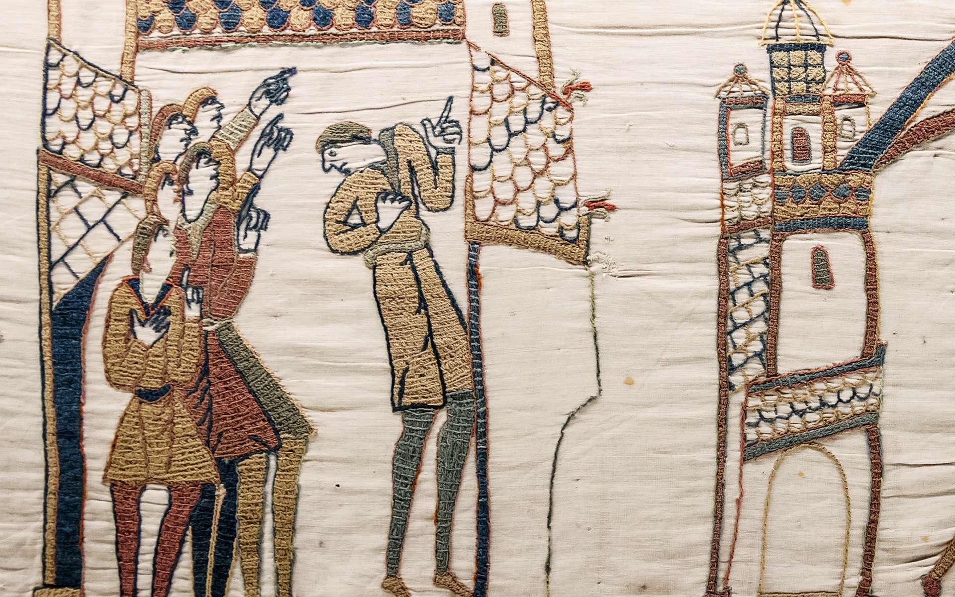 La tapisserie de Bayeux illustre quelques événements inattendus, comme le passage de la comète de Halley en 1066. © Myrabella, Wikimedia Commons, DP