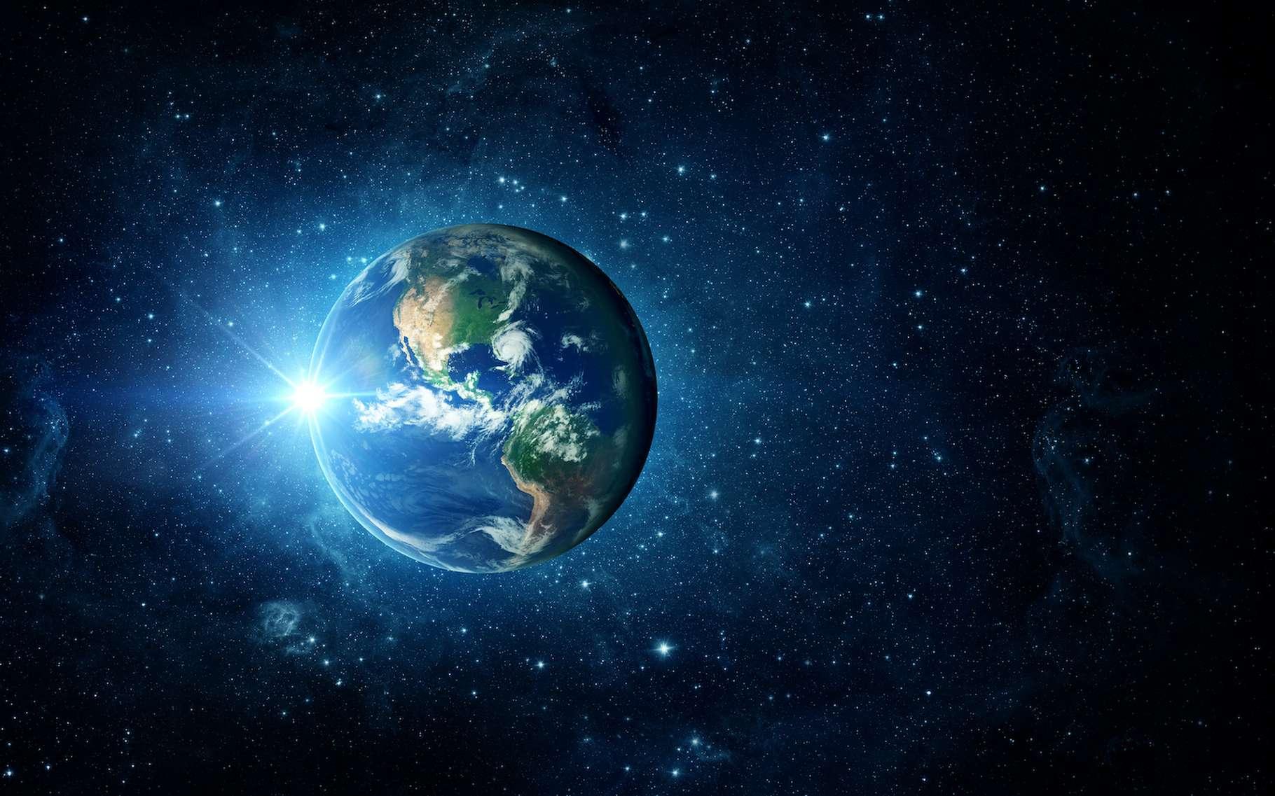 Une dynamique d'évolution de l'inclinaison de son axe de rotation plutôt douce offre à la Terre une certaine stabilité climatique naturelle propice au développement d'une forme de vie complexe. © Tryfonov, Adobe Stock