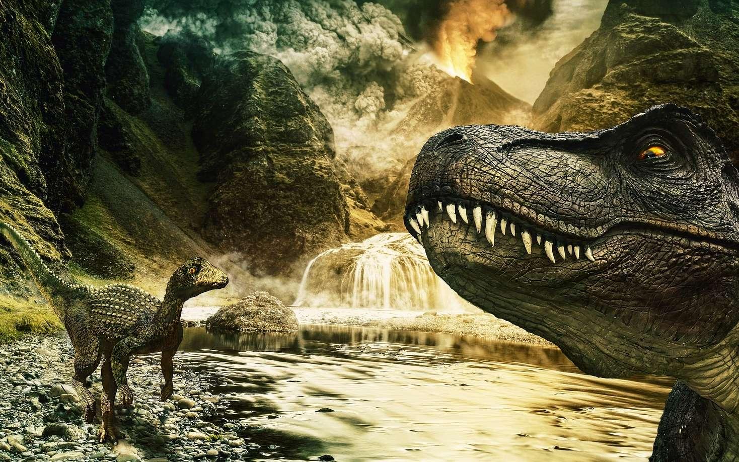 Le jurassique est la période correspondant à l'apogée des dinosaures. © Papafox, Pixabay, CC0