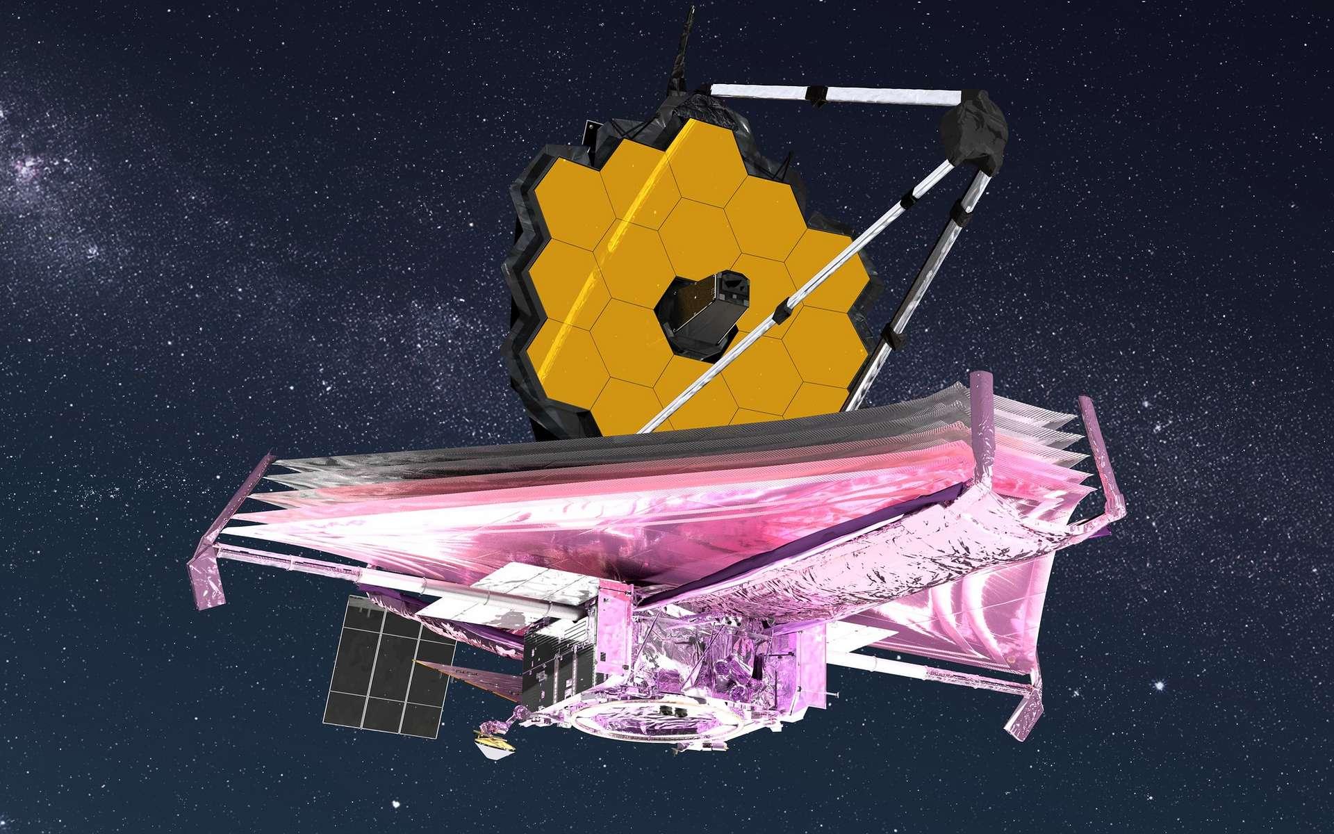 Illustration du grand télescope spatial James Webb. © Nasa GSFC, CIL, Adriana Manrique Gutierrez
