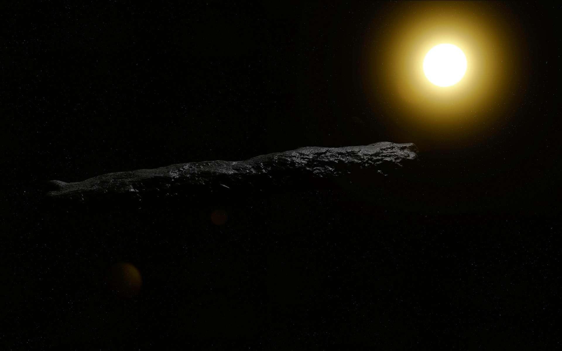 Selon Avi Loeb, astrophysicien à l'université de Harvard (États-Unis), « 'Oumuamua nous a apporté la preuve de l'existence de civilisations extraterrestres intelligentes. Illustration de l'objet 'Oumuamua. © naturalearth2, Adobe Stock
