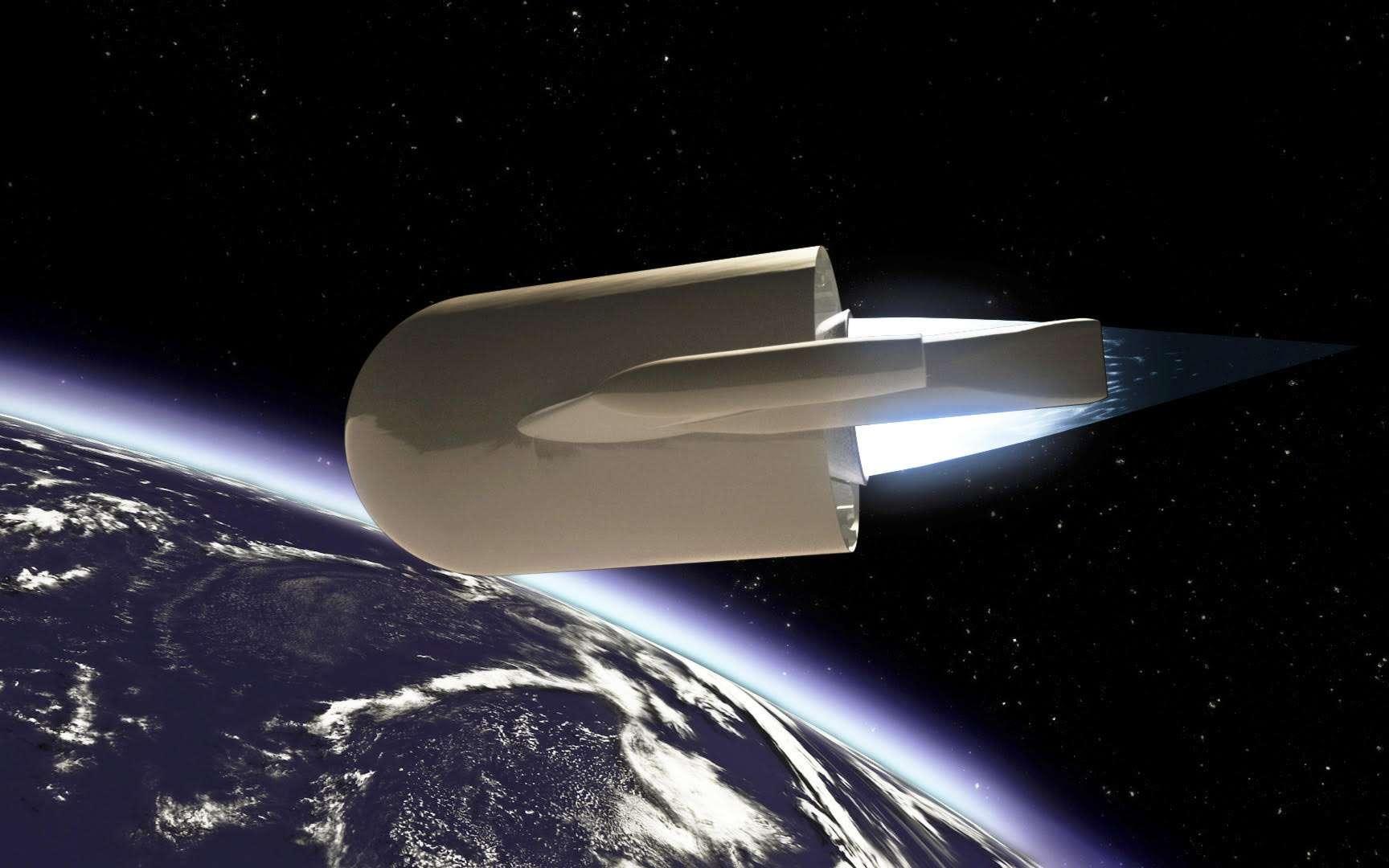 Plus flexible et moins coûteux qu'une réutilisation totale, le concept d'Adeline peut s'adapter à n'importe quel lanceur mais il va de soi qu'Airbus DS le destine à Ariane 6. © Airbus Space Systems
