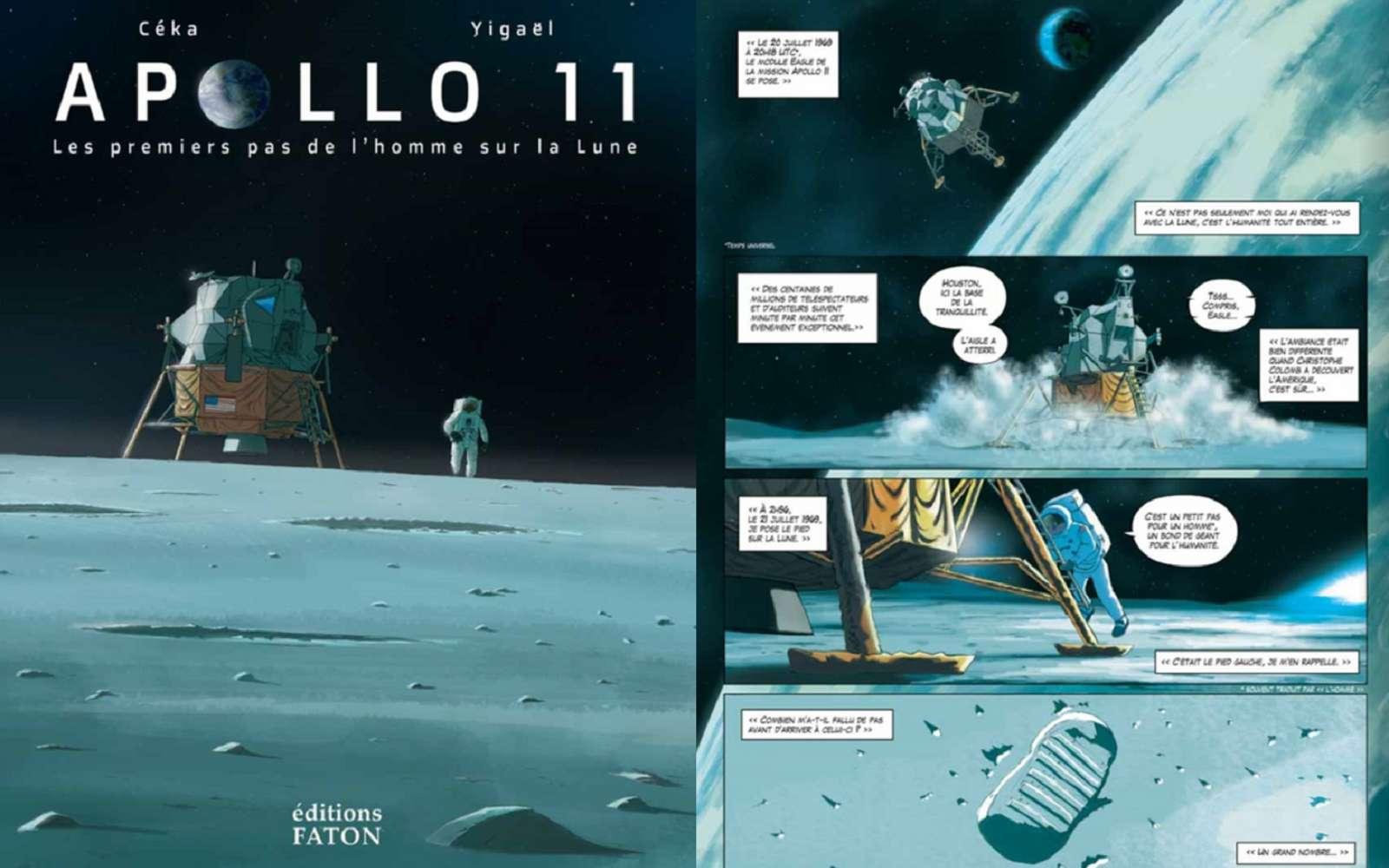L'aventure spatiale du siècle dernier se vit dans les bottes de Neil Armstrong à travers la BD Apollo 11 Les premiers pas de l'Homme sur la Lune. © Éditions Faton