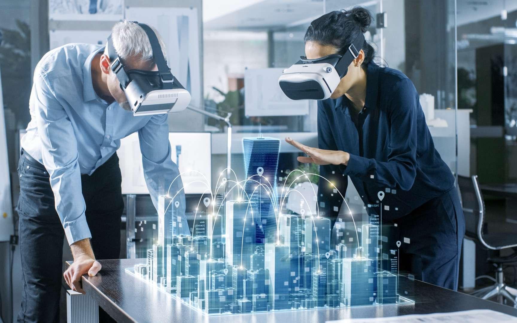 Les deux leaders, Bouygues Construction et Dassault Systèmes s'associent pour accélérer la transformation numérique du secteur de la construction. © Gorodenkoff, Adobe Stock