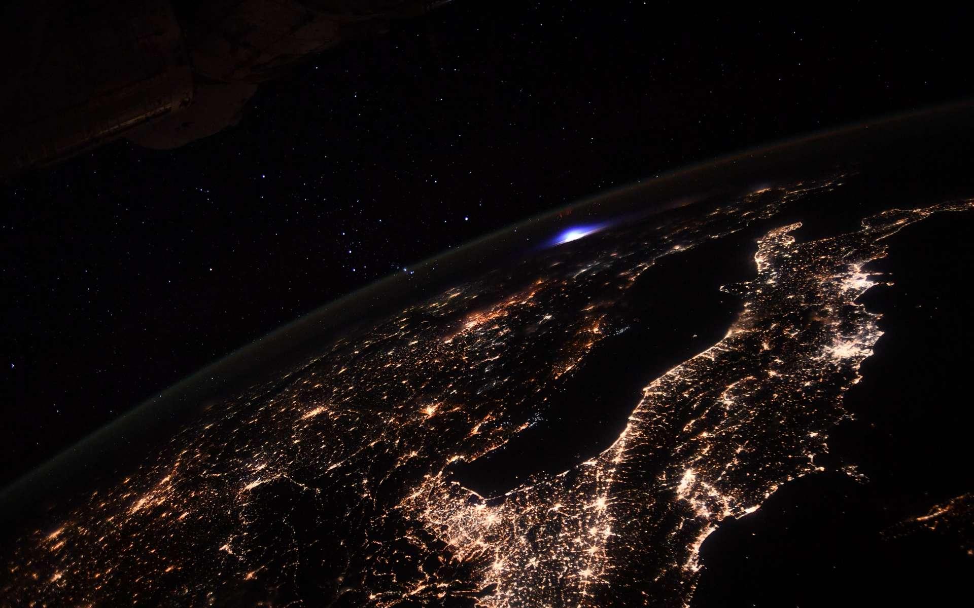 Un orage vu de la Station spatiale début septembre 2021. © Nasa, ESA, T. Pesquet