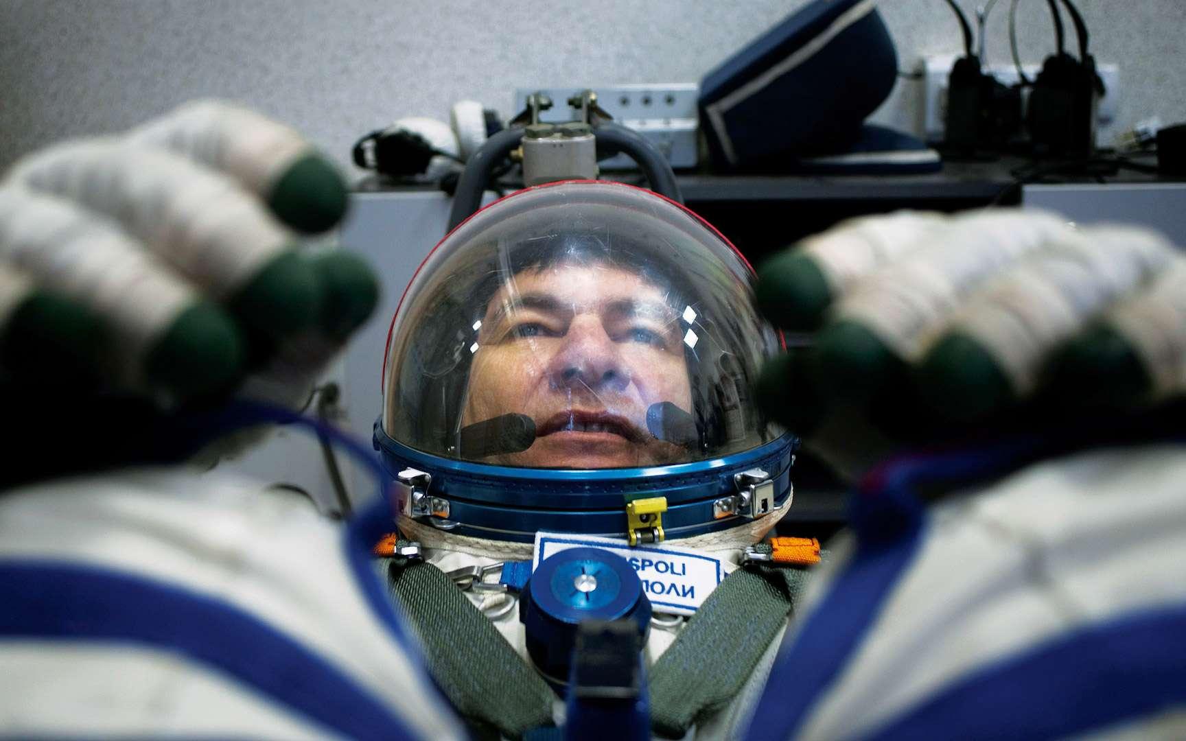 L'Italien Paolo Nespoli, doublure de Thomas Pesquet lors de la mission Proxima, retourne dans l'espace pour la troisième fois. Il est arrivé à bord de l'ISS. © ESA