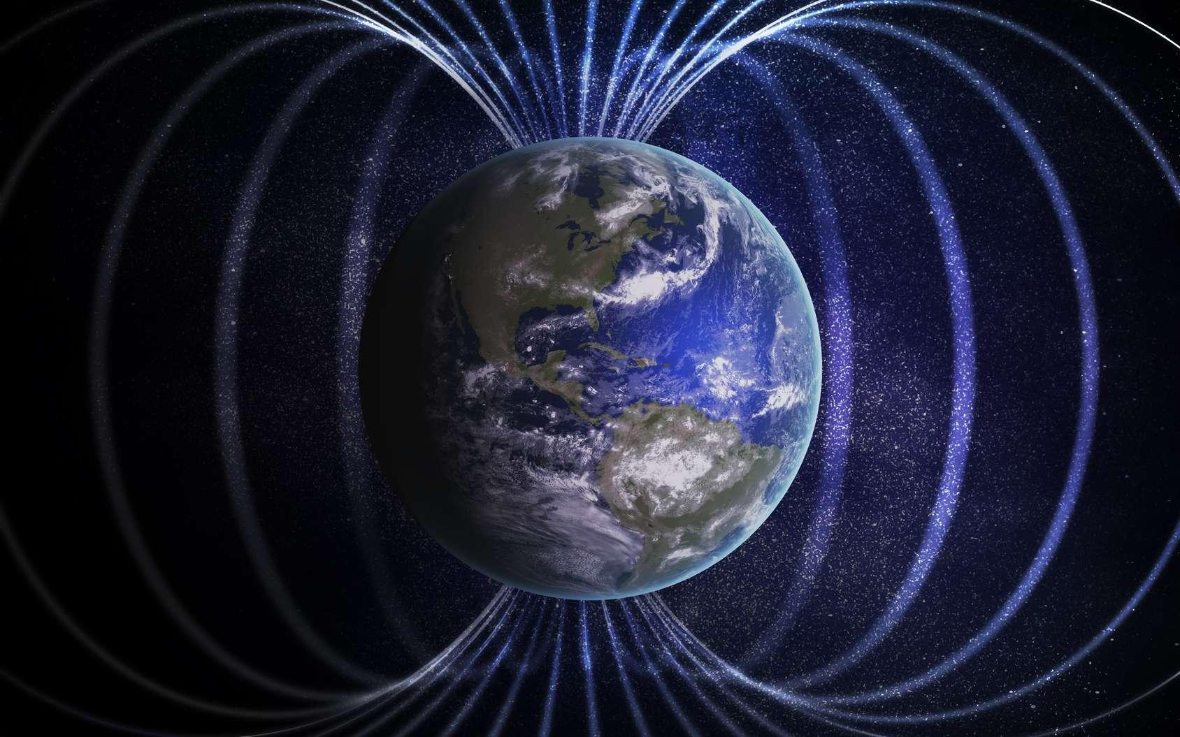 D'après une étude, qui n'a pas été publiée, le cerveau humain réagirait au champ magnétique. © vchalup, fotolia
