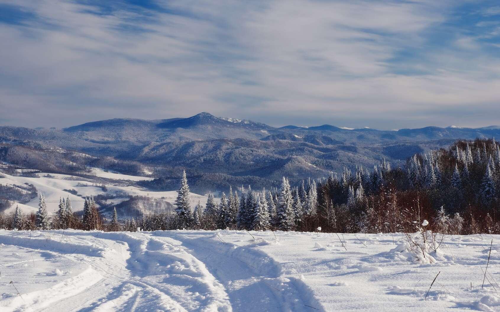 Les hivers peuvent très froids dans les régions où règne un climat continental. © nighttman, fotolia