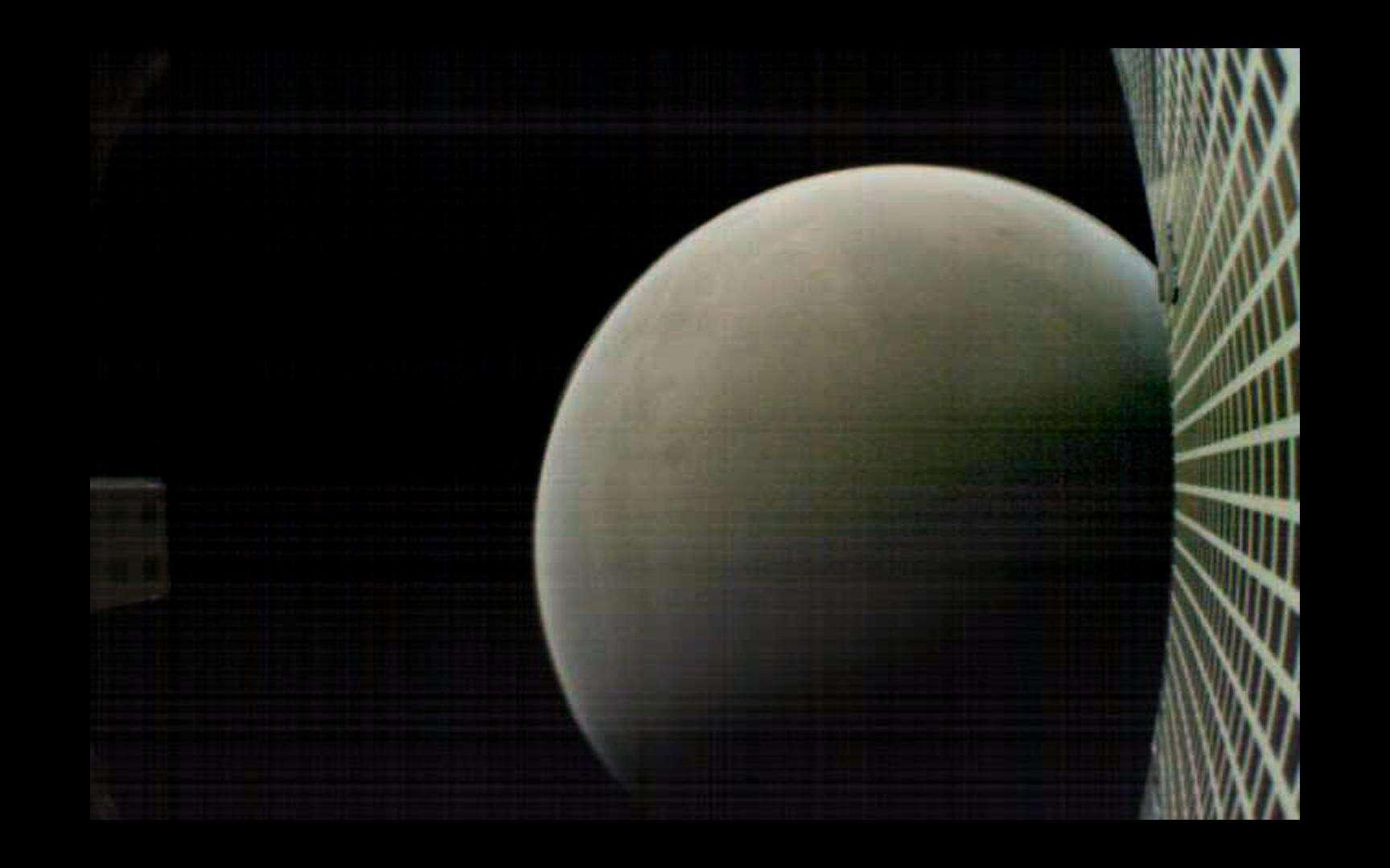 Cette image de Mars a été acquise par MarCO-B, depuis une distance de 7.600 kilomètres. @ Nasa, JPL-Caltech