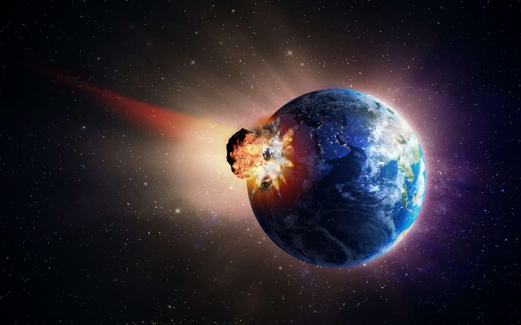 L'astéroïde qui s'est écrasé du côté de Chicxulub a causé l'extinction des dinosaures. Mais d'autres, tombés plus tôt, ont peut-être créé les conditions propices à l'apparition de la vie sur Terre. © Mopic, Adobe Stock