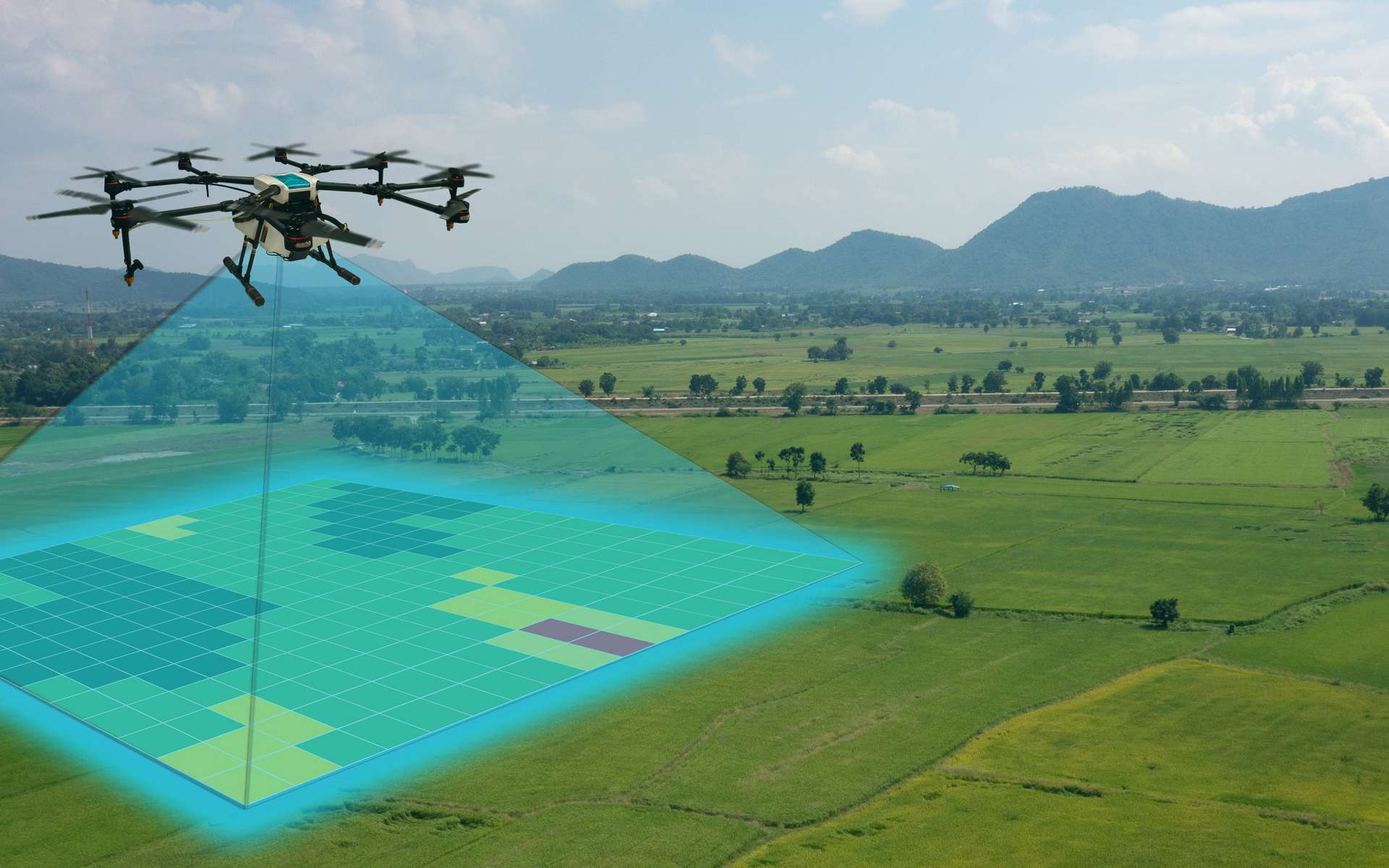 Les drones sont un outil robotique déjà adopté par le secteur agricole. © Monopoly919, Adobe Stock