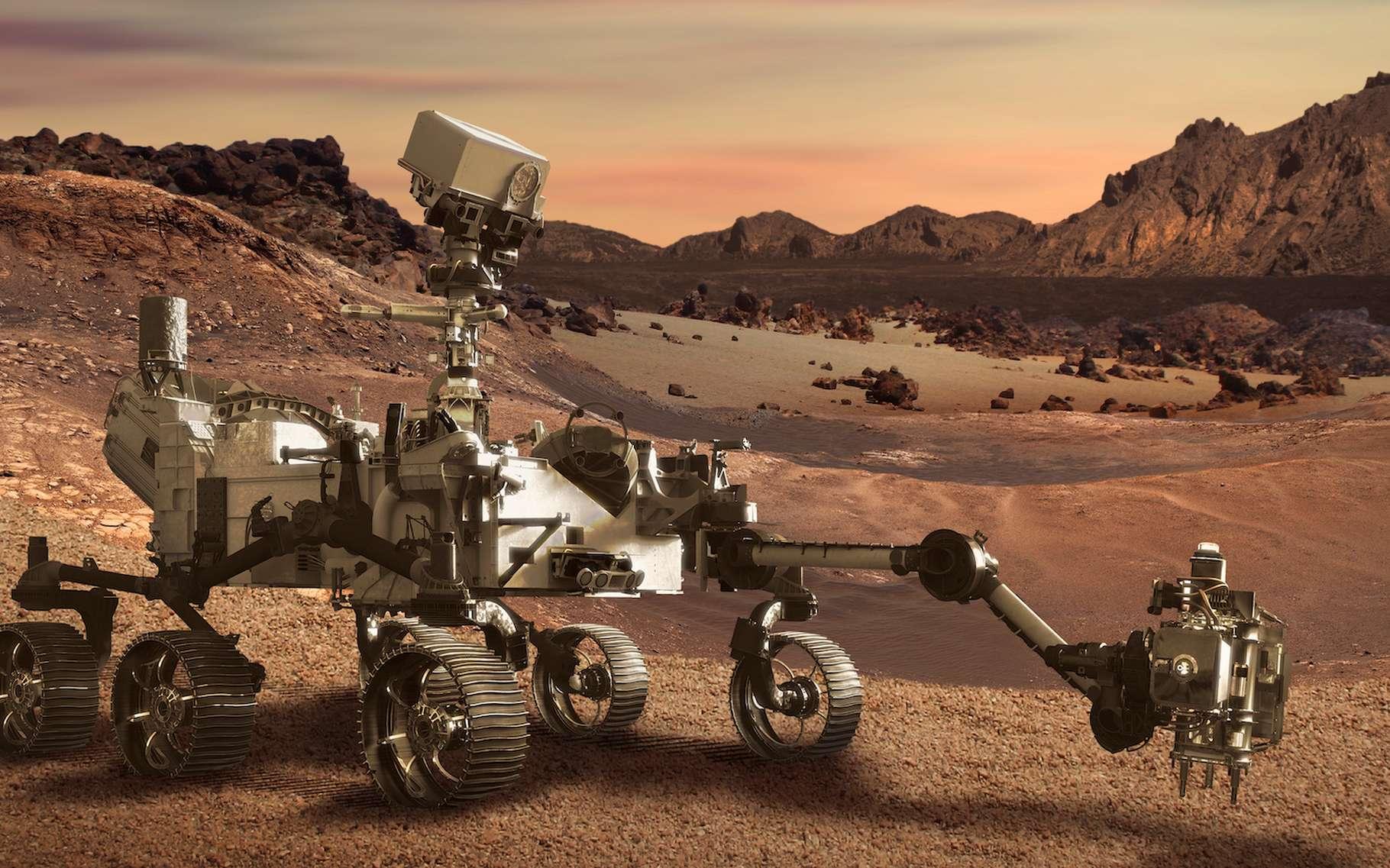 Perseverance, le rover de la Nasa, est parti explorer Mars. Il a emporté avec lui quelques messages cachés. © Anterovium, Adobe Stock