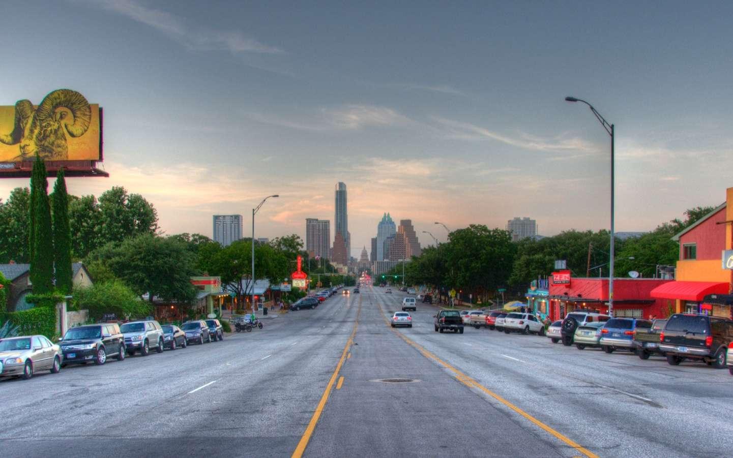 La South Congress Avenue traversant le quartier de South Congress. © Justin Jensen, Wikimedia Commons, CC by-sa 2.0