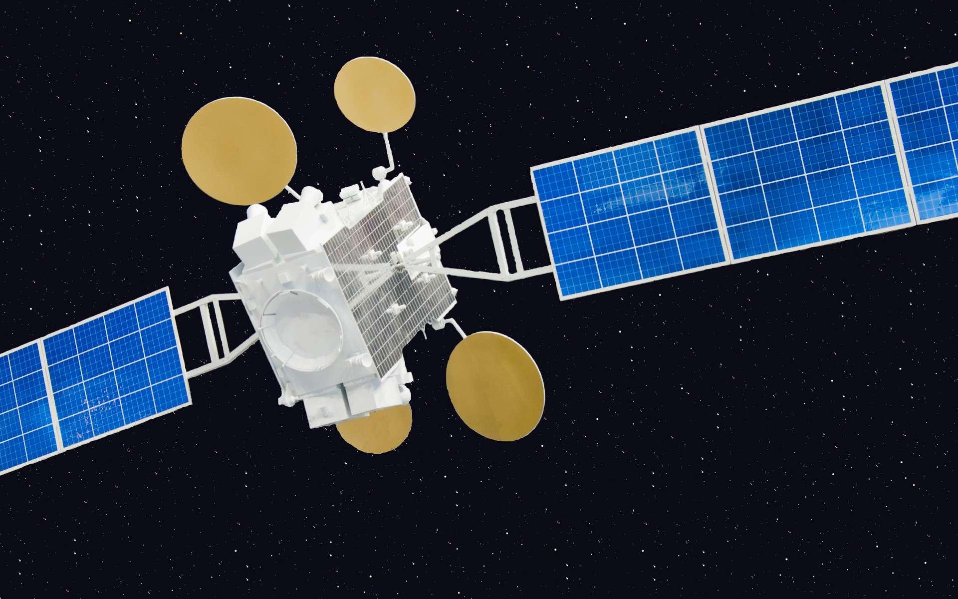 Facebook et Eutelsat s'associent pour fournir un accès Internet à des populations de l'Afrique subsaharienne déjà familiarisées avec la téléphonie mobile. Le satellite choisi est Amos-6, de Spacecom. Ici, le satellite Amos-5. © Andrzej Olchawa, Wiimedia Commons, CC by-sa 2.0