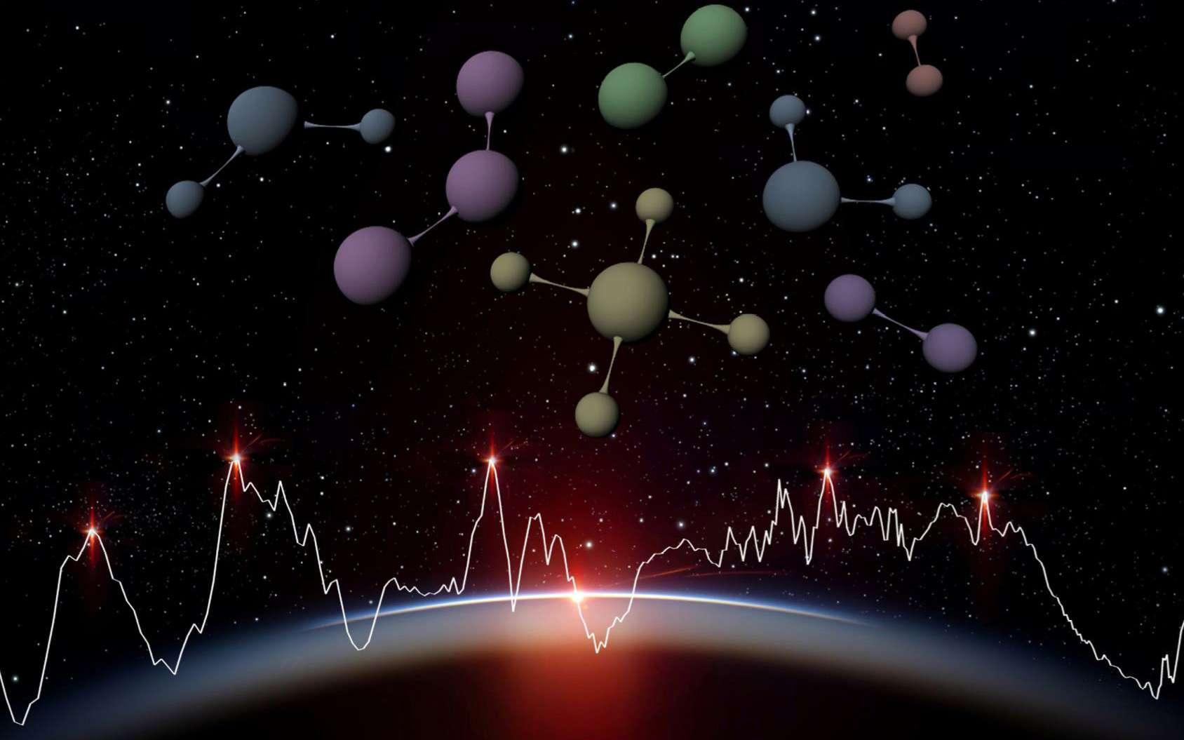 Les observations d'Ariel devraient permettent de déduire la composition chimique, la température et la pression dans l'atmosphère de la planète observée. © Ariel Science team