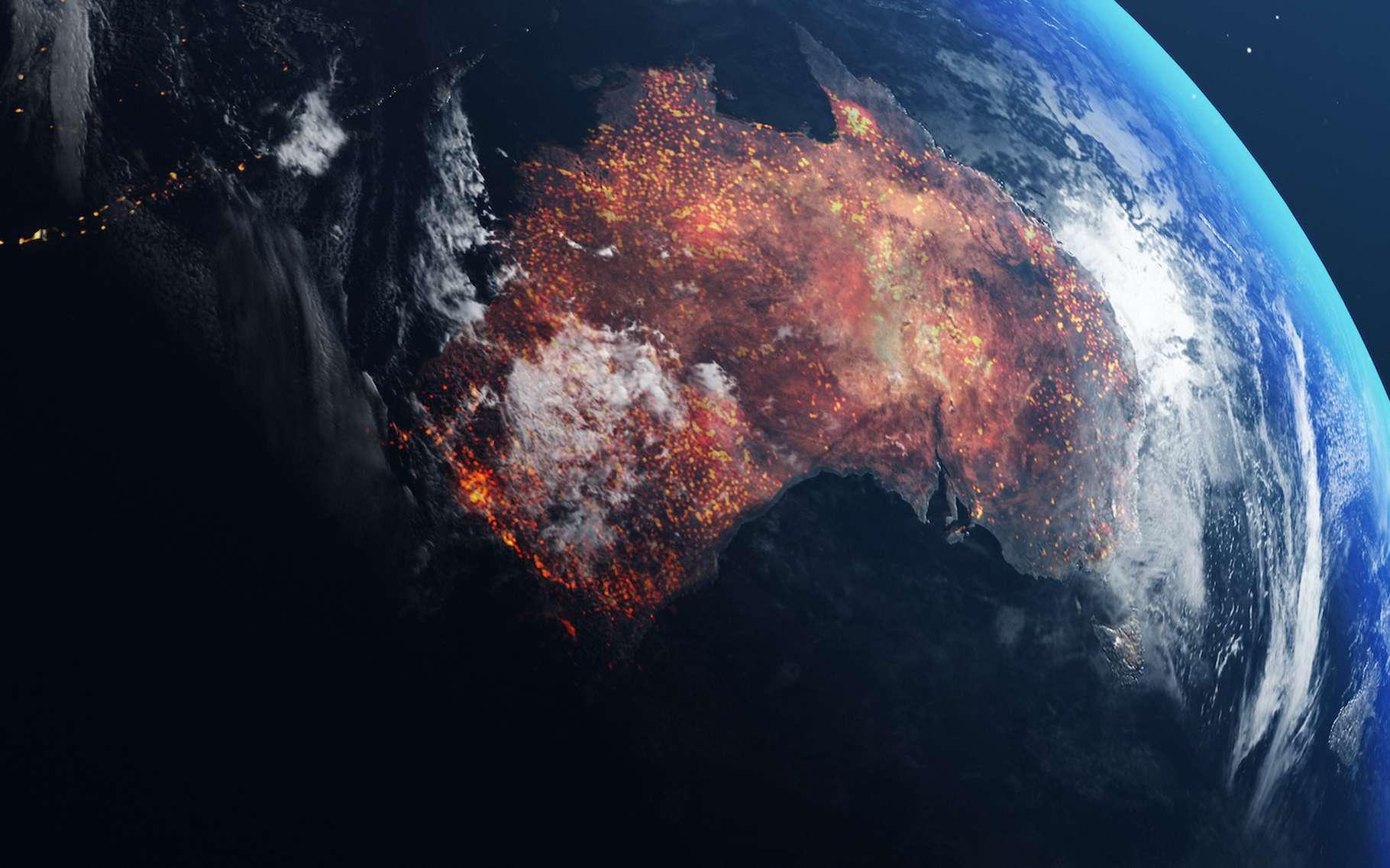 Des chercheurs de l'université de Harvard (États-Unis) nous apprennent aujourd'hui que les fumées émises par les incendies qui ont ravagé l'Australie il y a quelques mois ont atteint des altitudes records. © artegorov3@gmail.com, Adobe Stock