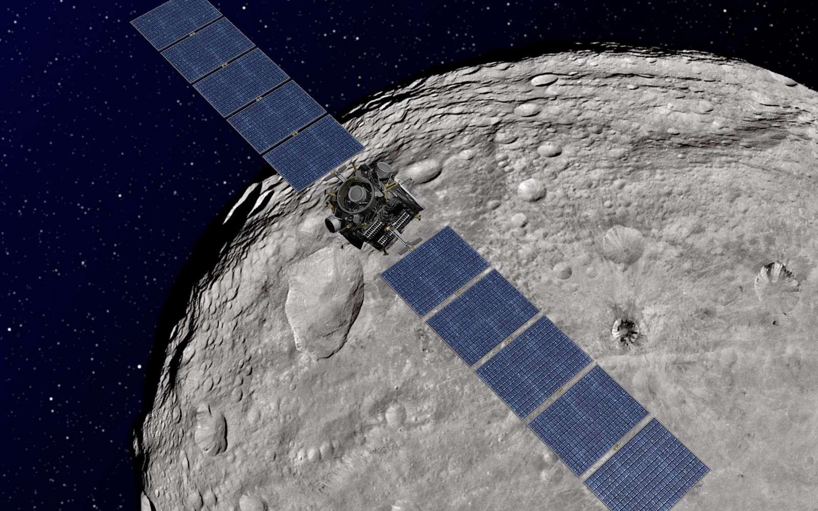 La mission Dawn autour de Vesta et Cérès devrait apporter un éclairage nouveau sur les conditions qui ont prévalu pendant la formation des planètes. En effet, ces deux corps sont avant tout des protoplanètes. © Nasa