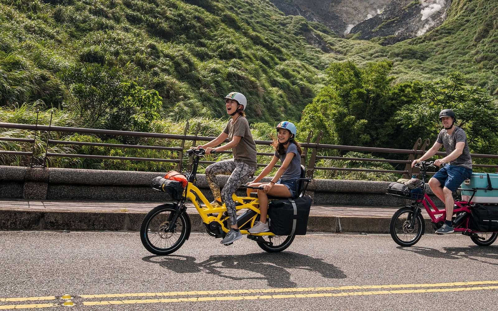Le nouveau Tern GSD mesure 1,86 mètre de long, ce qui correspond à la taille d'un vélo standard. © Tern Bicycles
