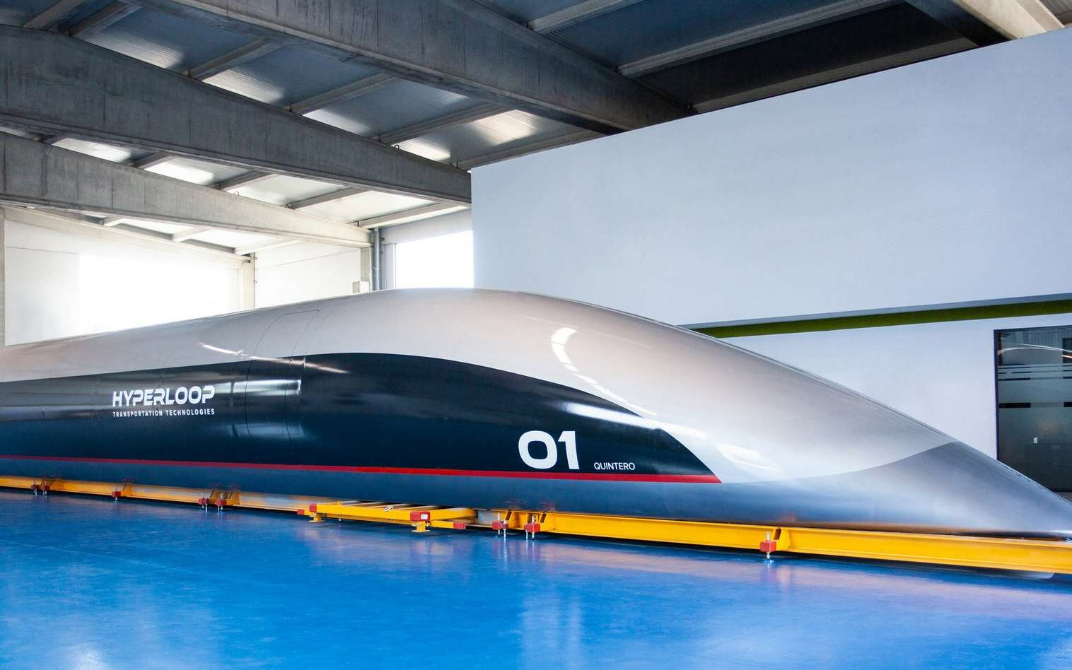 La capsule Hyperloop Quintero One. © HyperloopTT