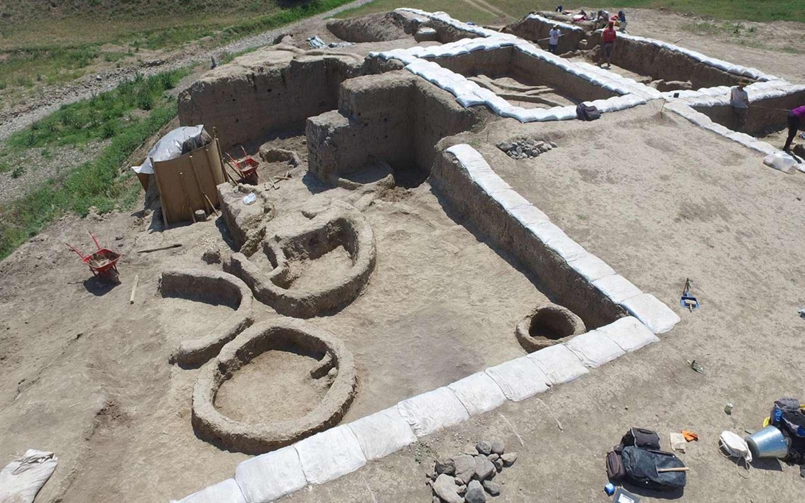 L'Homme ferait du vin depuis au moins 8.000 ans. Ici, une vue du site géorgien où ont été trouvées des poteries ayant contenu du vin. © Stephen Batiuk