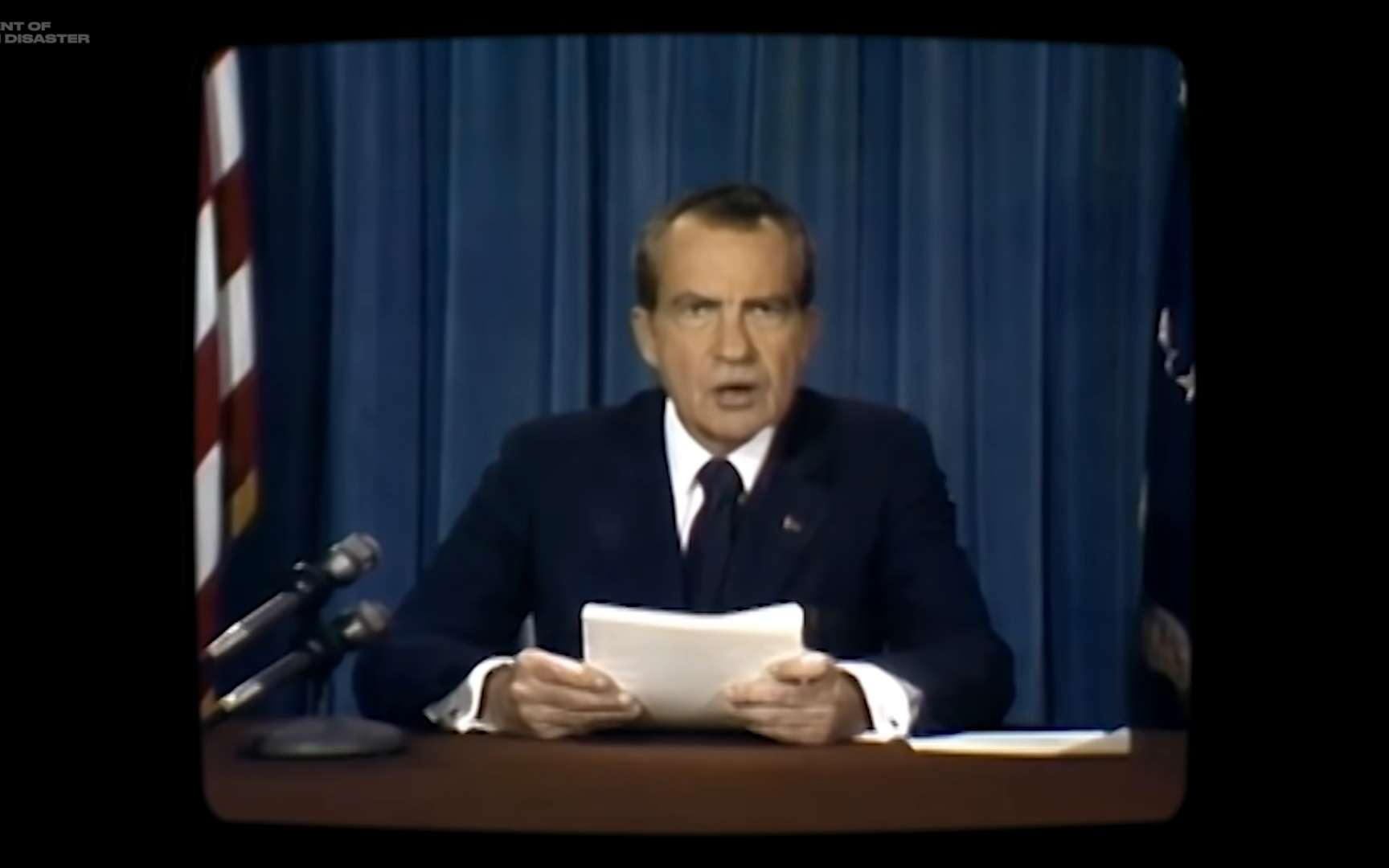 Grâce à l'intelligence artificielle, le président Nixon lit un discours qu'il n'a jamais prononcé en réalité. © Francesca Panetta et Halsey Burgund