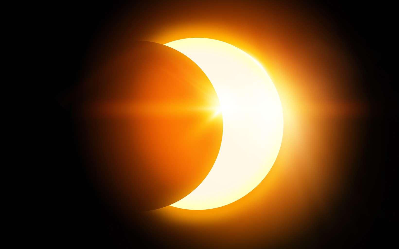 Sans lunette de protection, l'observation d'une éclipse de Soleil est vivement déconseillée car très dangereuses pour vos yeux. © James Thew, fotolia
