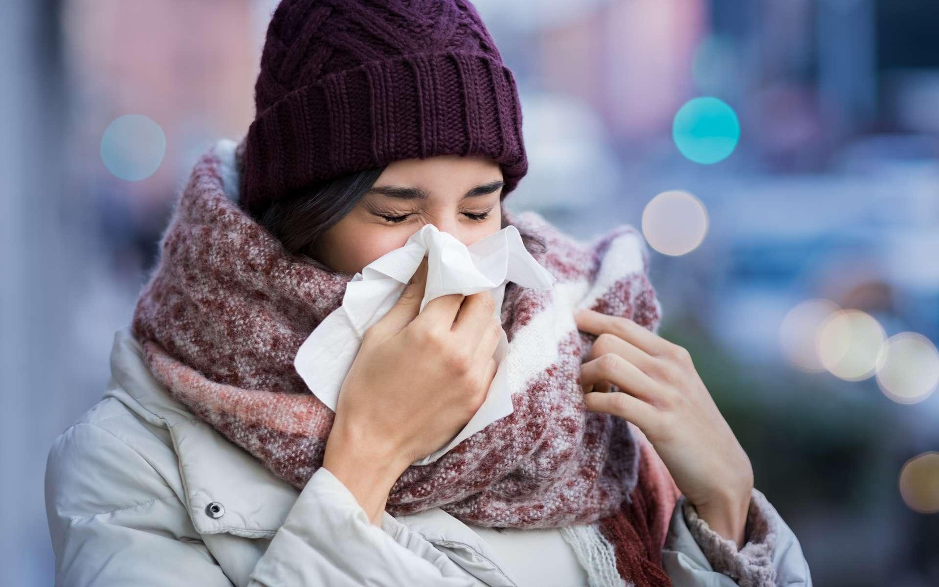 Tous les hivers, des millions de français contractent la grippe et le rhume. Pourtant, ces deux virus ne s'entendent pas du tout, l'un empêche même l'autre d'agir. © Rido, Adobe Stock