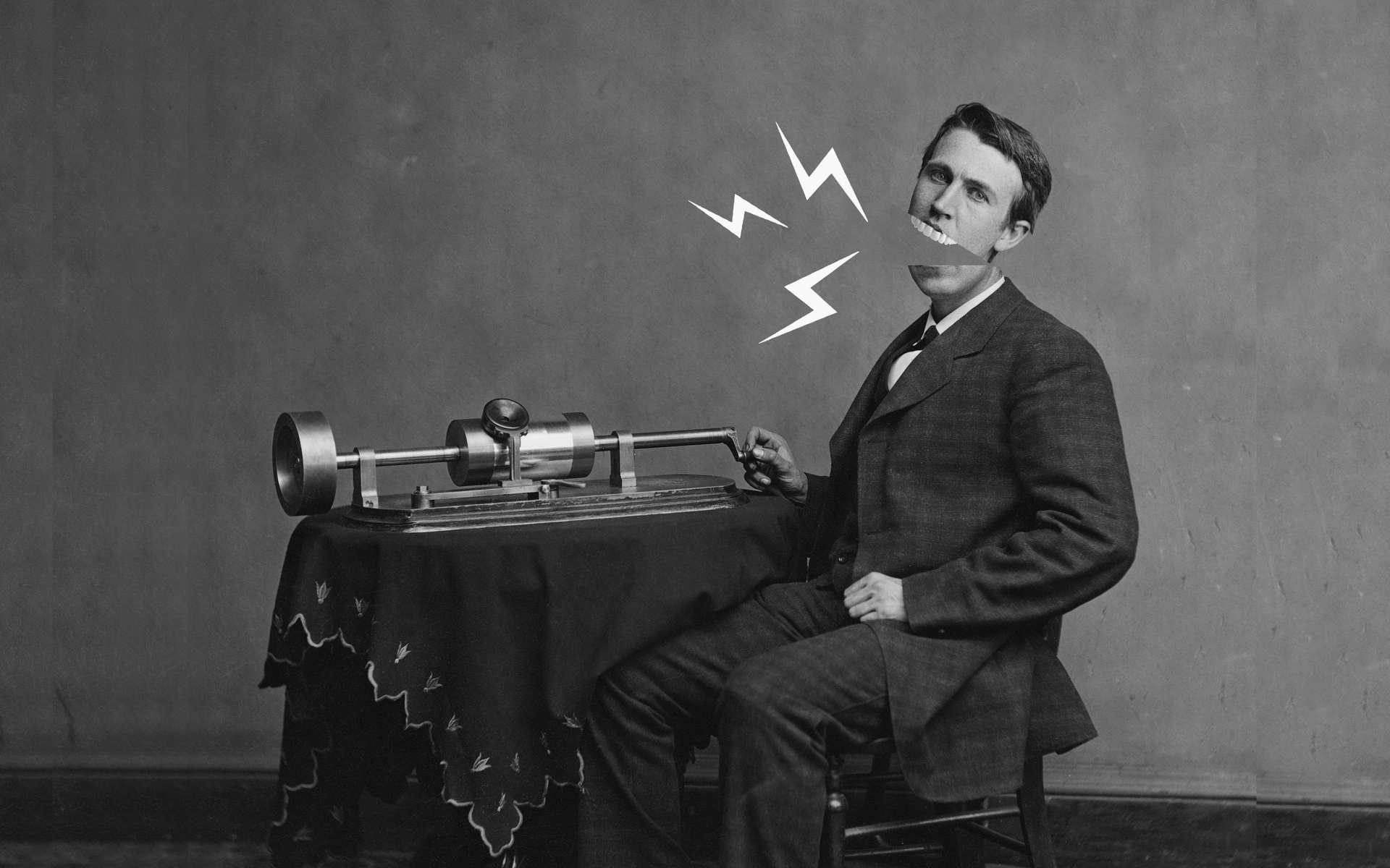 Pourquoi Edison mordait-il le bord de son phonographe ? © Levin C. Handy, Emma Hollen