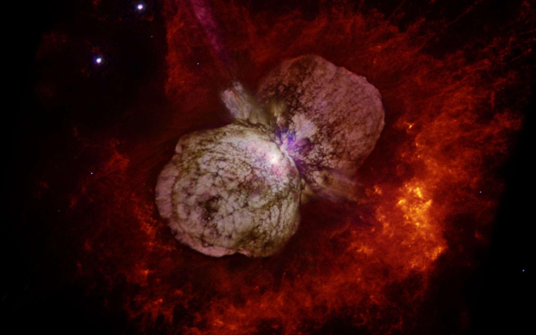 Au-delà de 2030, il devrait nous être difficile d'observer la nébuleuse qui entoure l'étoile hypergéante Eta Carinae. © Nathan Smith, Université de Californie et NASA, Wikipedia, Domaine public