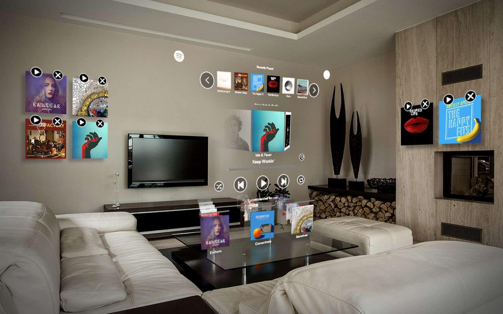 Et si vous accrochiez votre musique préférée aux murs ? © Spotify