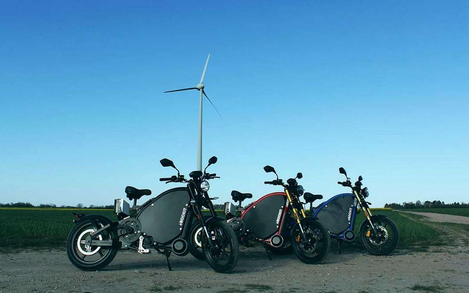 La moto électrique à pédale eRockit. © eRockit
