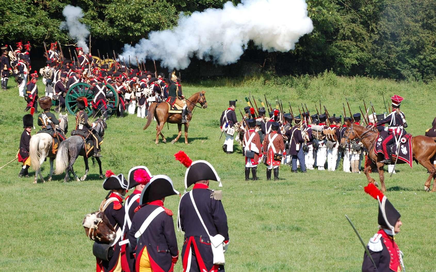 Une reconstitution de la bataille de Waterloo. © Fotolia, Ludovic Lan