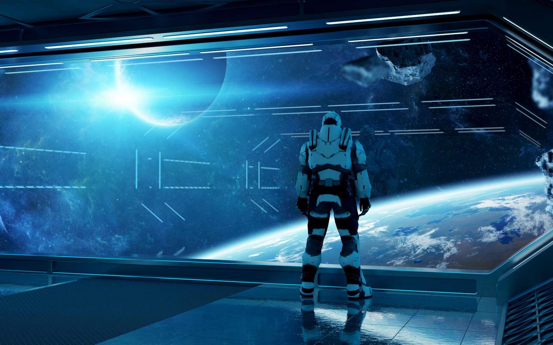 Certains pensent que le salut de l'humanité est à chercher dans l'espace. D'autres doutent sérieusement de la faisabilité d'un voyage interstellaire. © sdecoret, Adobe Stock